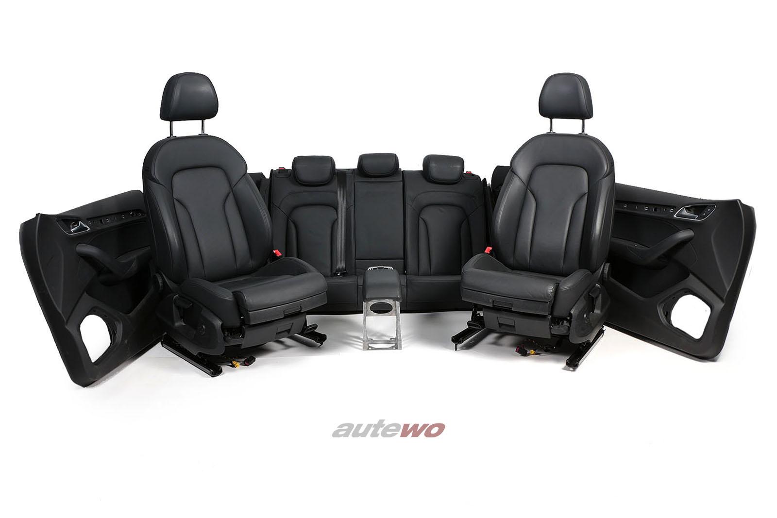 Audi Q3 8U Innenausstattung/Sportsitze Leder soul schwarz FZ komplett neuwertig