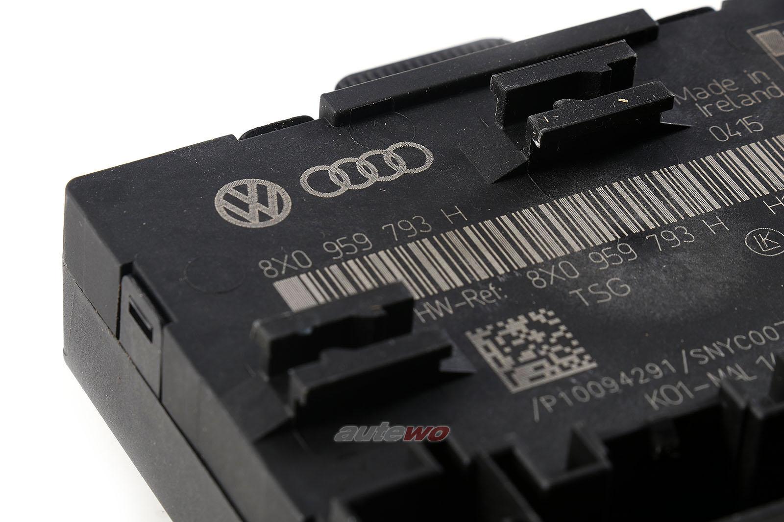 8X0959793H Audi/Skoda A1/Q3/RSQ3 8U Türsteuergerät vorne links