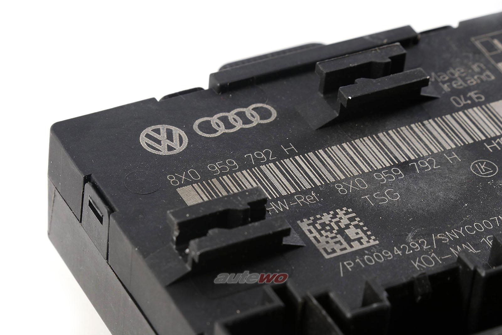 8X0959792H Audi/Skoda A1/Q3/RSQ3 8U Türsteuergerät vorne rechts