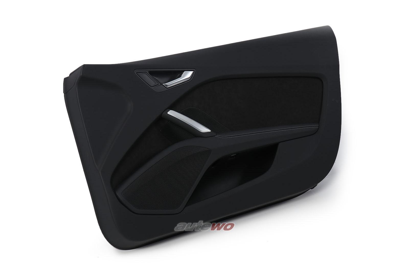 8S0867104C Audi TT/TTS 8S/FV Türverkleidung Leder/Alcantara schwarz Rechts