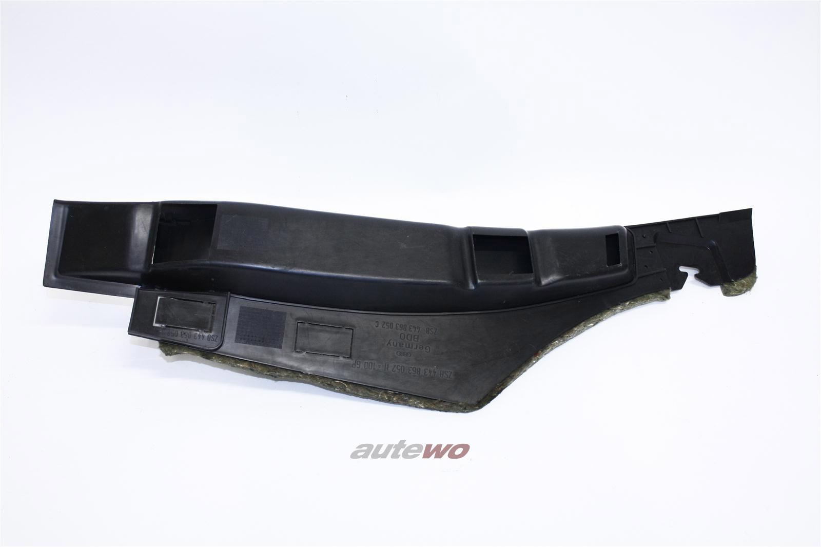 Audi 100/200 Typ 44 Abdeckung Amaturenbrett 01C Schwarz 443863052J