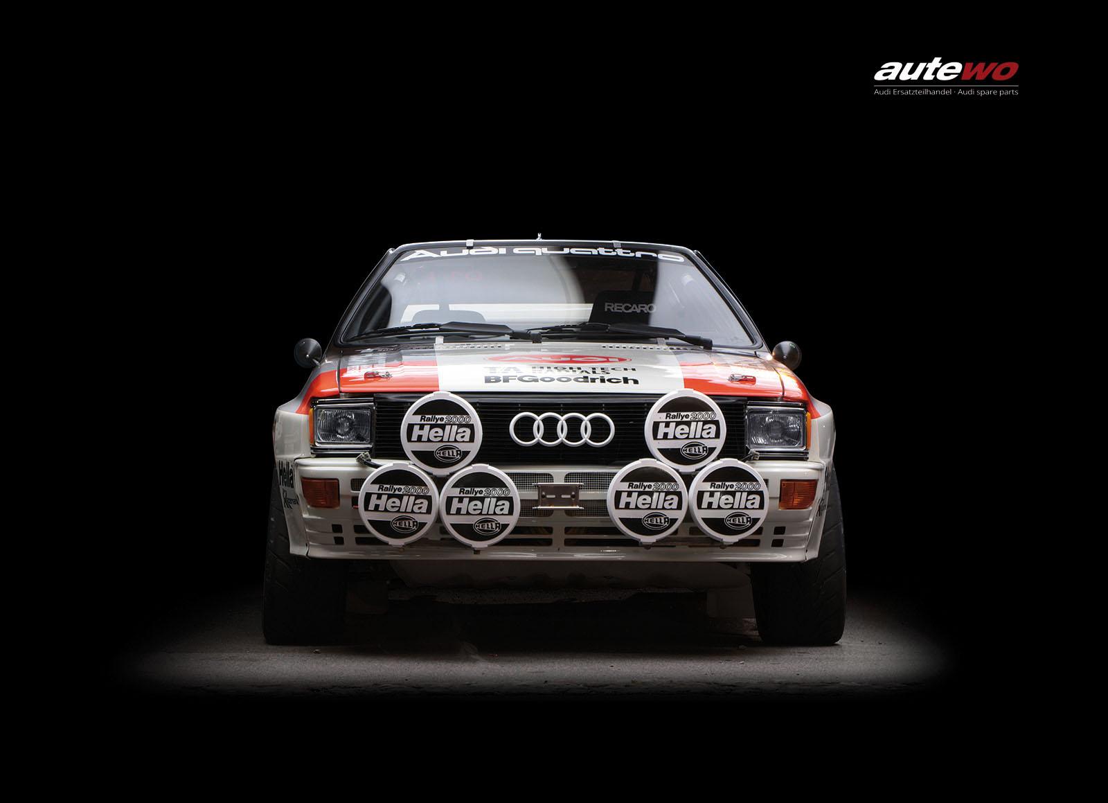 autewo-Poster DIN A2  Motiv original Audi Rallye Quattro A1