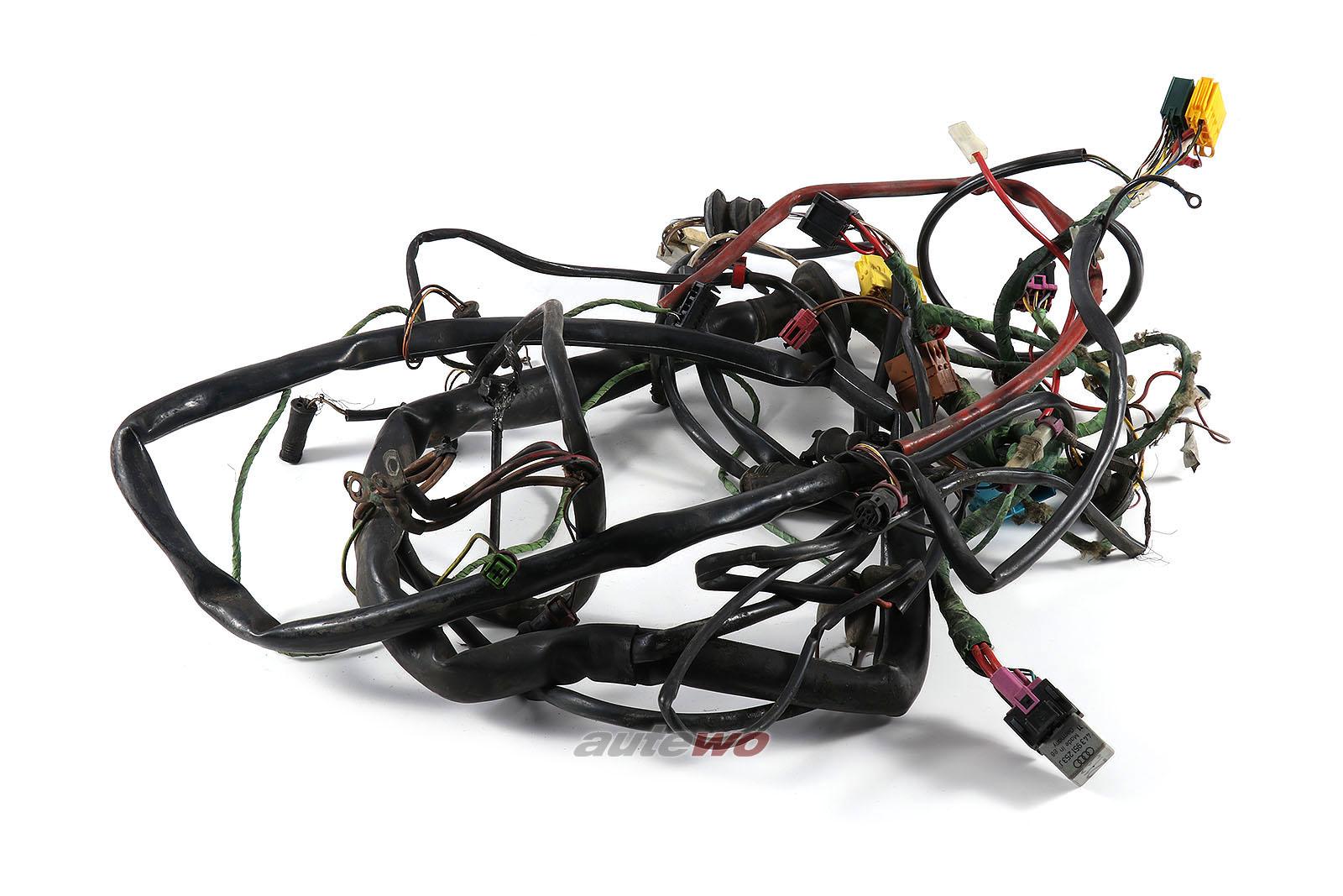 447971071CF Audi 100/200 Typ 44 Kabelbaum Beleuchtung + Checksystem/Klima