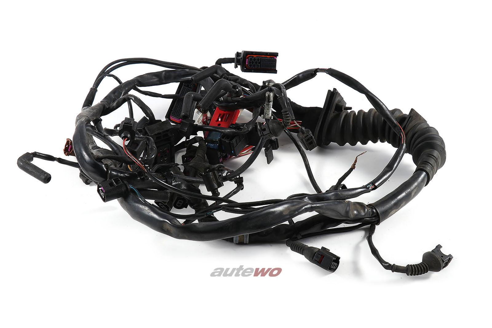 4Z7971072M Audi A6 4B Allroad 2.5l V6 AKE Motorkabelbaum Schaltgetriebe
