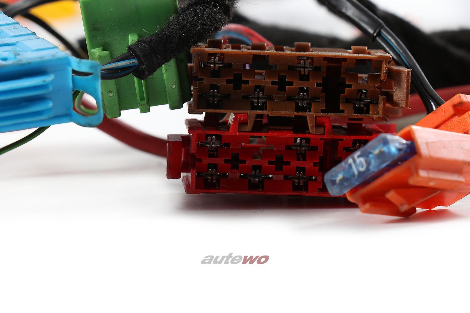 8A0971315AN Audi 80 Typ 89 Cabrio Kabelbaum Zentralelektrik Sitzheizung