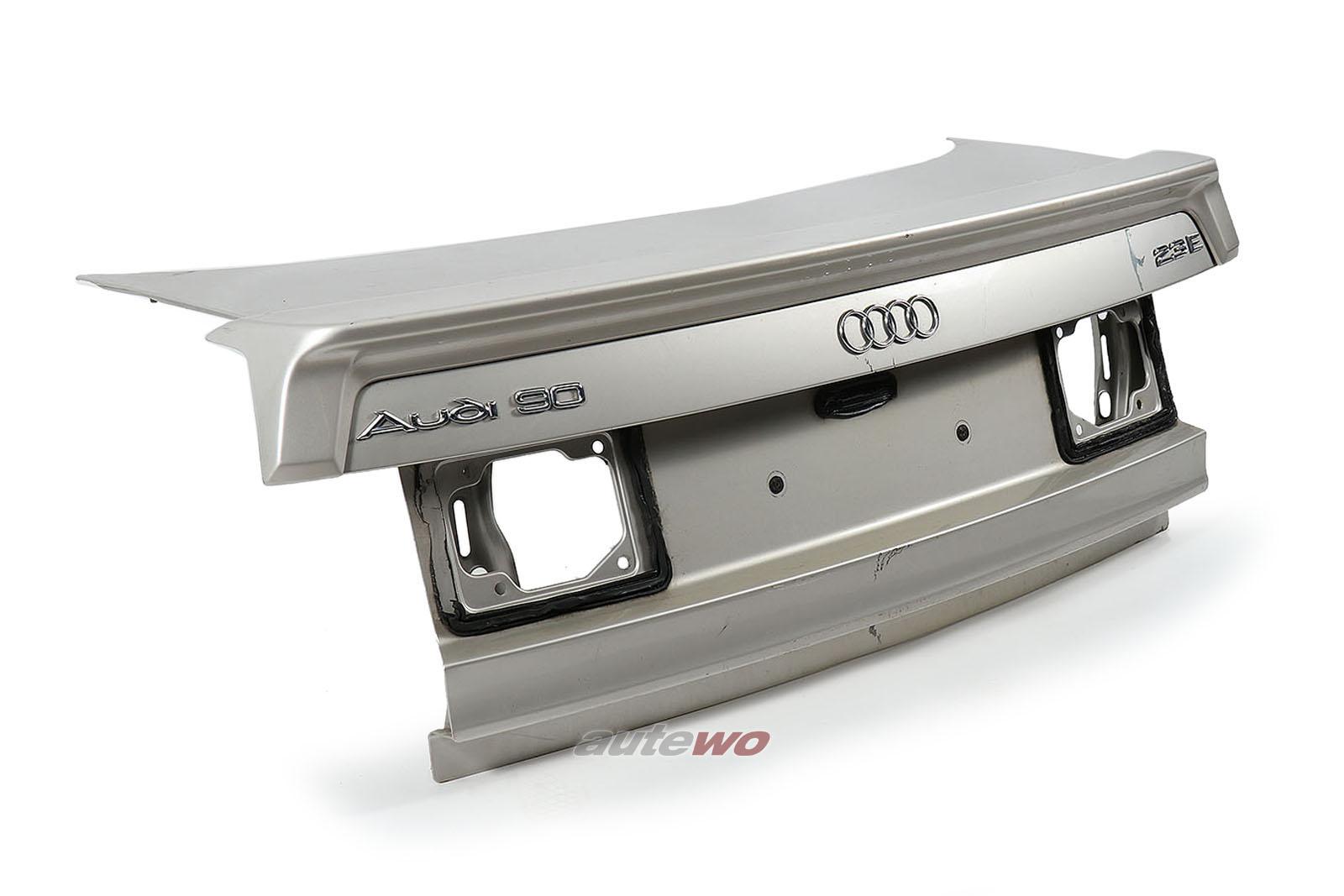 893827023 Audi 80/90 Typ 89 Limousine Heckklappe mit Heckspoiler Silber