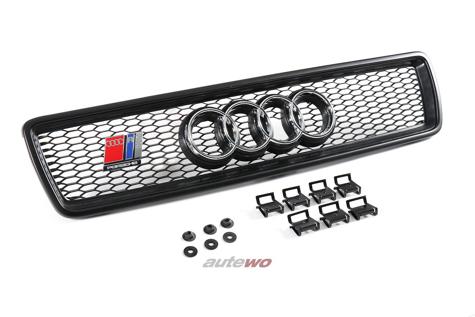 8A0854687/8A0854641 NEU Audi 80 B4/S2/RS2 P1 original Kühlergrill + Emblem