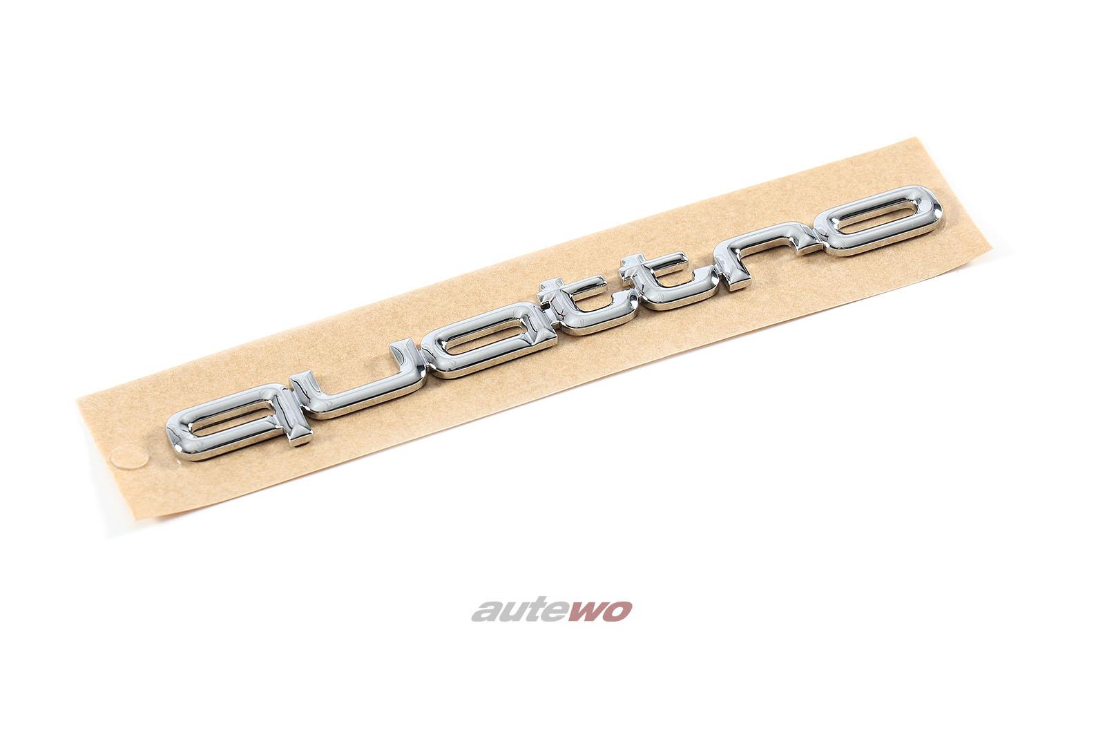 8A0853737C NEU Audi 80/90/100/200/RS2/V8 D11 Quattro Schriftzug Chrom 120mm