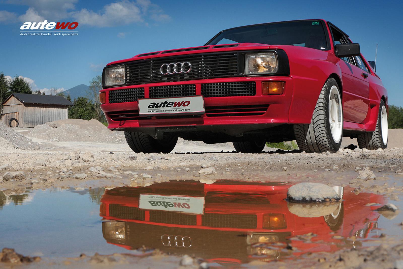 Leinwand-Druck Motiv original Audi Sportquattro Holzkeilrahmen 40x60cm