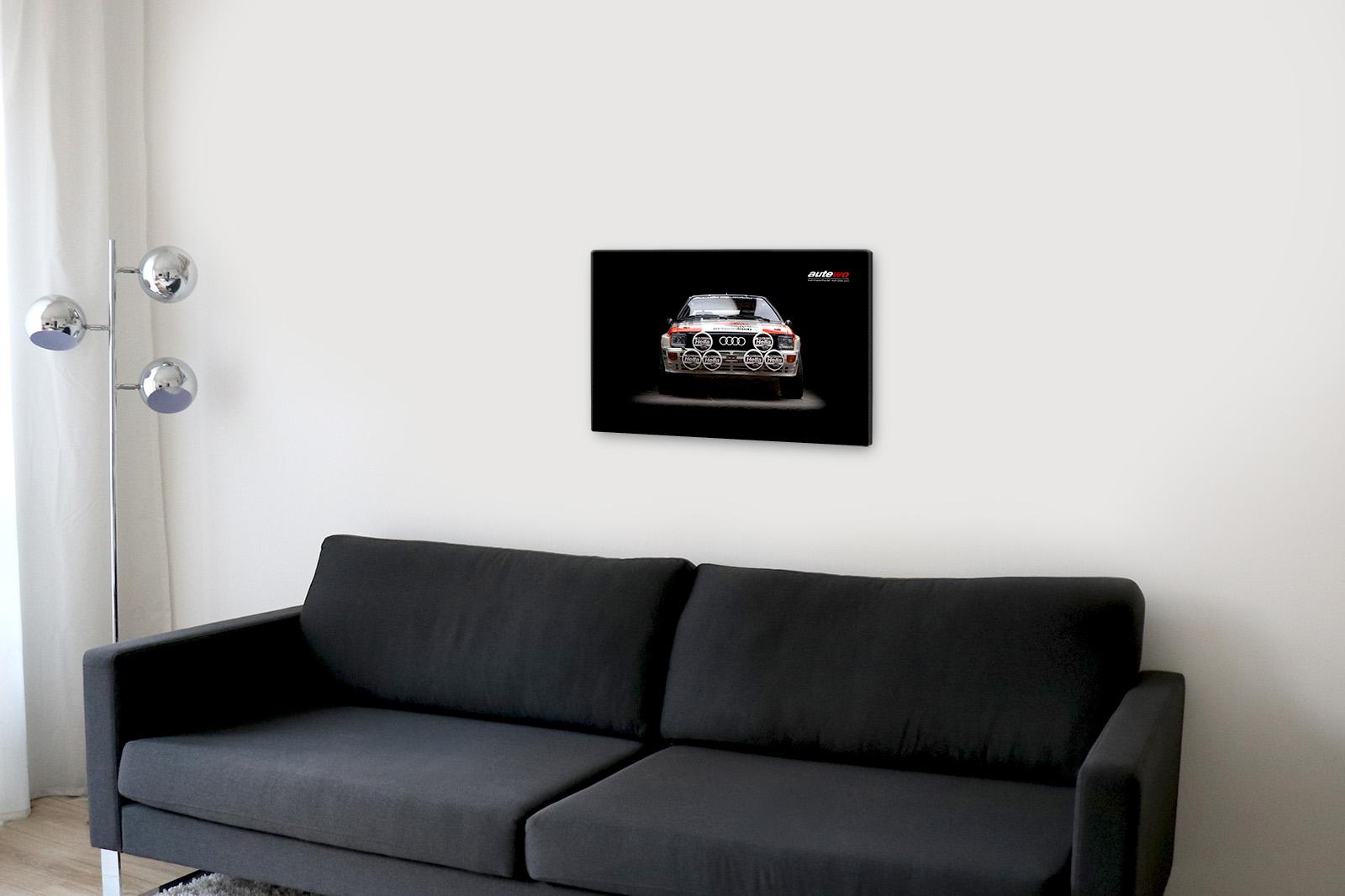 Leinwand-Druck Motiv original Audi Rallye Quattro A1 Holzkeilrahmen 40x60cm