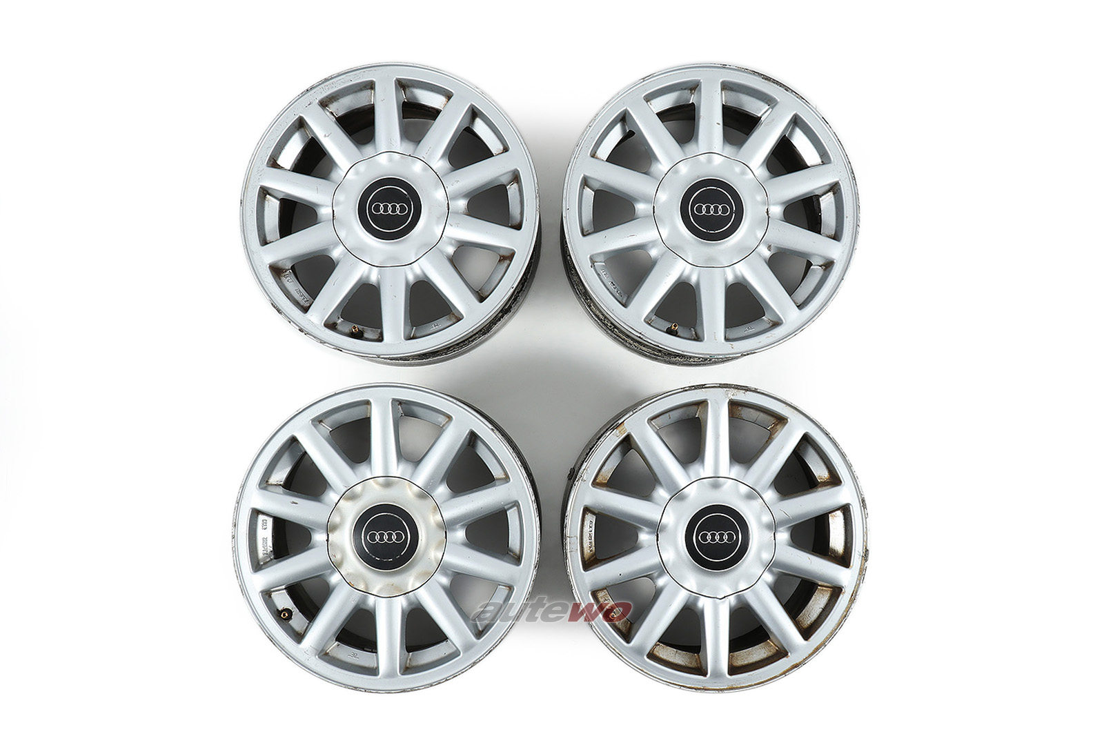 8A0601025C Audi 80 B4/Coupe/Cabrio 10-Speichen-Alufelgen 7x15 ET37 4x108