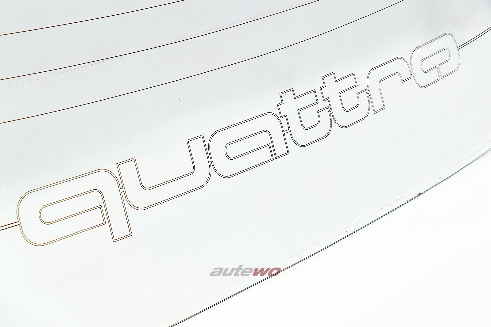 853845501 Audi 80/90 Typ 81/85 Limousine Heckscheibe Quattro-Schriftzug klar