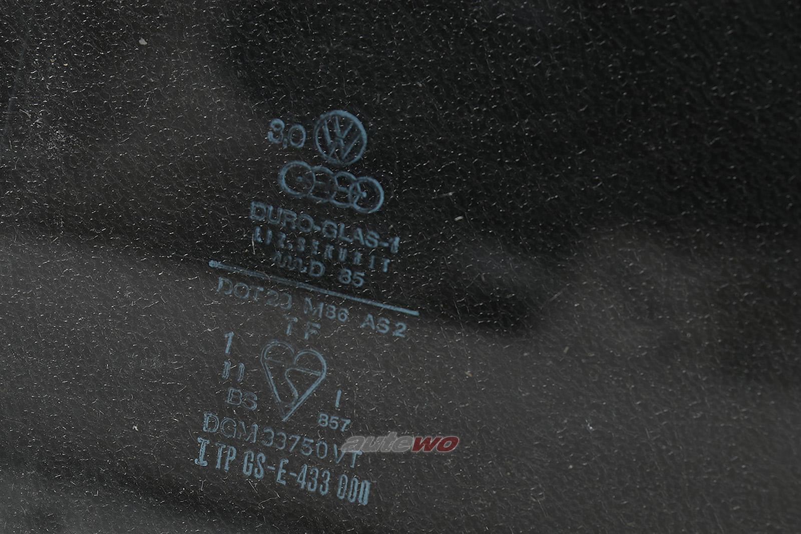 855845301 Audi Coupe Typ 81/85/Urquattro Seitenscheibe Hinten Links klar