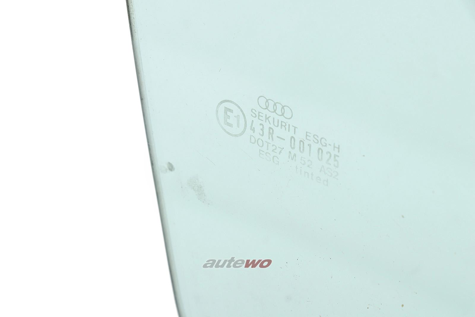 855845022M Audi Coupe Typ 81/85/Urquattro Seitenscheibe Vorne Rechts grün
