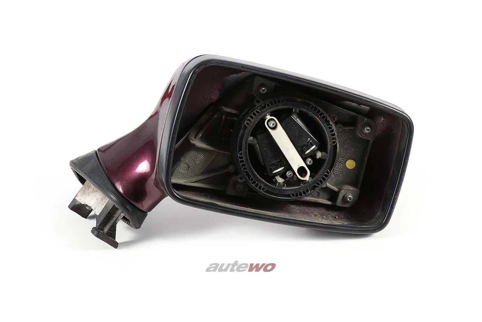 893857502H Audi 80/90/Coupe/Cabrio 89/B4 elektr. Außenspiegel Rechts weinrot