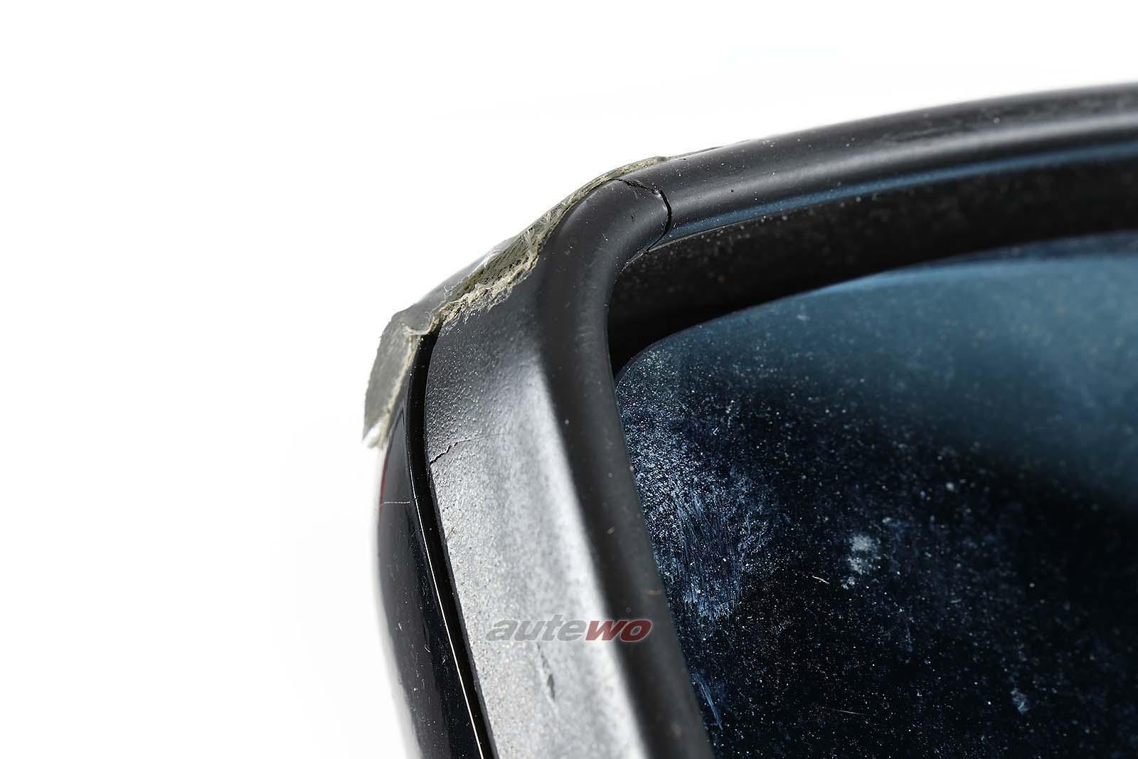 893857502H Audi 80/90/Coupe/Cabrio 89/B4 elektr. Außenspiegel Rechts blau