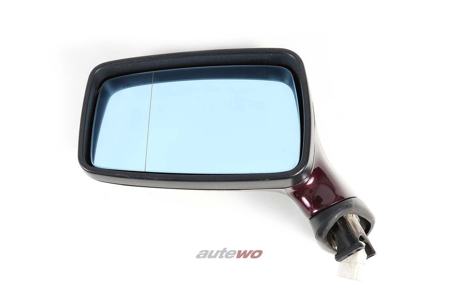 893857501H Audi 80/90/Coupe/Cabrio 89/B4 elektr. Außenspiegel Links weinrot