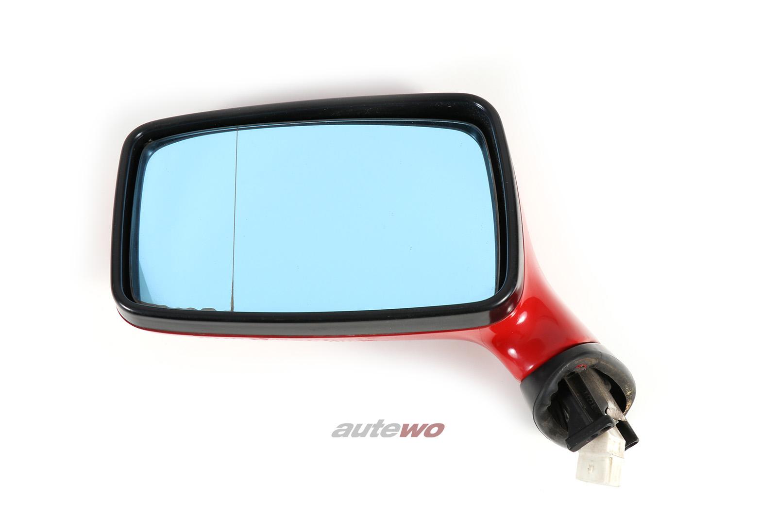 893857501H Audi 80/90/Coupe/Cabrio 89/B4 elektr. Außenspiegel Links rot