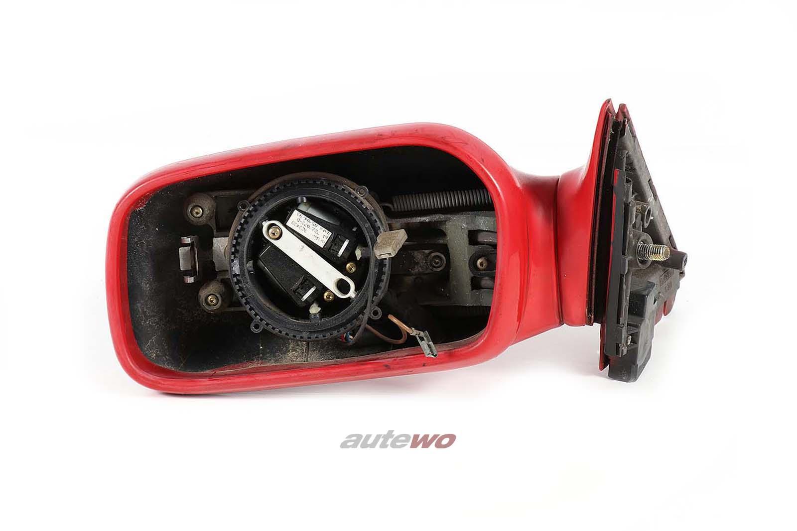 4A1857501K Audi 100/S4 C4 elektr. Außenspiegelmit Memory Links rot