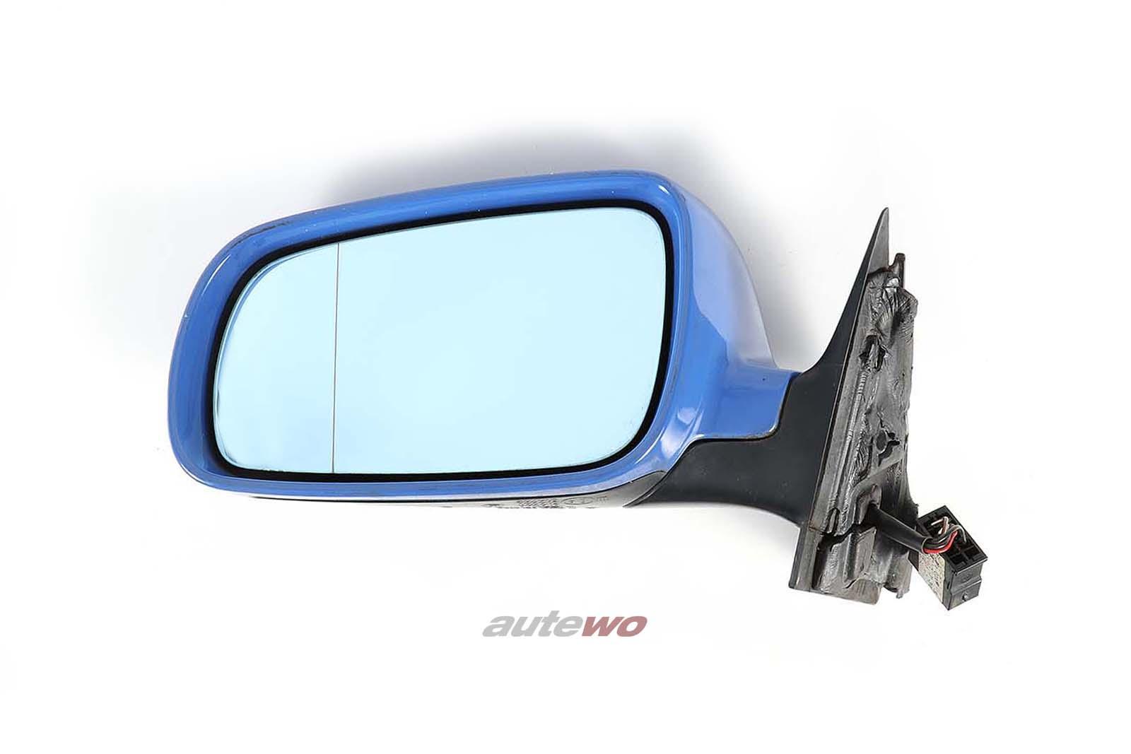 8D1858531C Audi A4/S4 B5 elektr. Außenspiegel Links blau