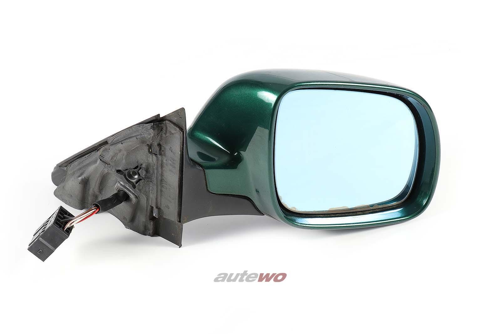 8D1858532C Audi A4/S4 B5 elektr. Außenspiegel Rechts grün