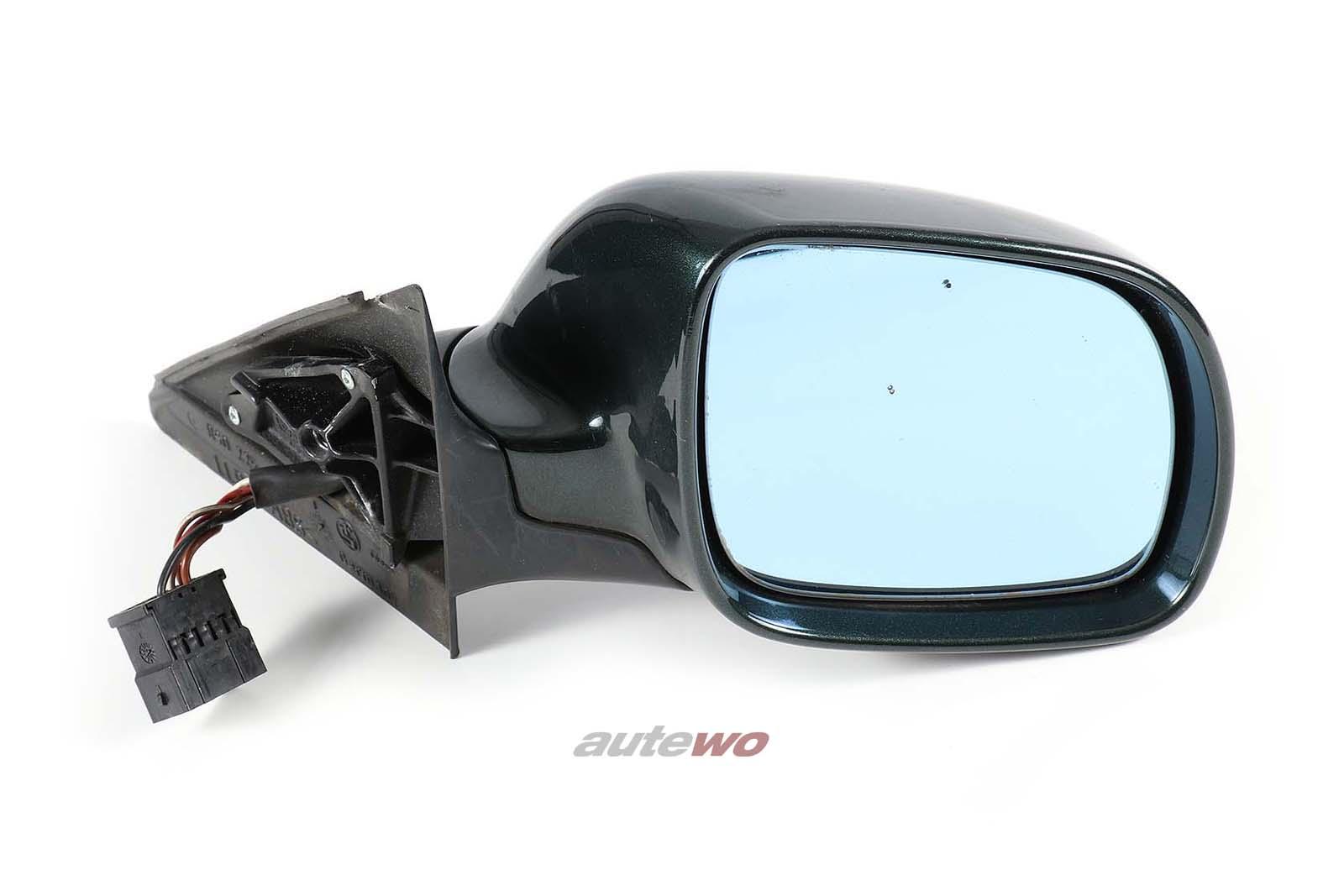 8D1858532C Audi A4/S4 B5 elektr. Außenspiegel Rechts dunkelgrün