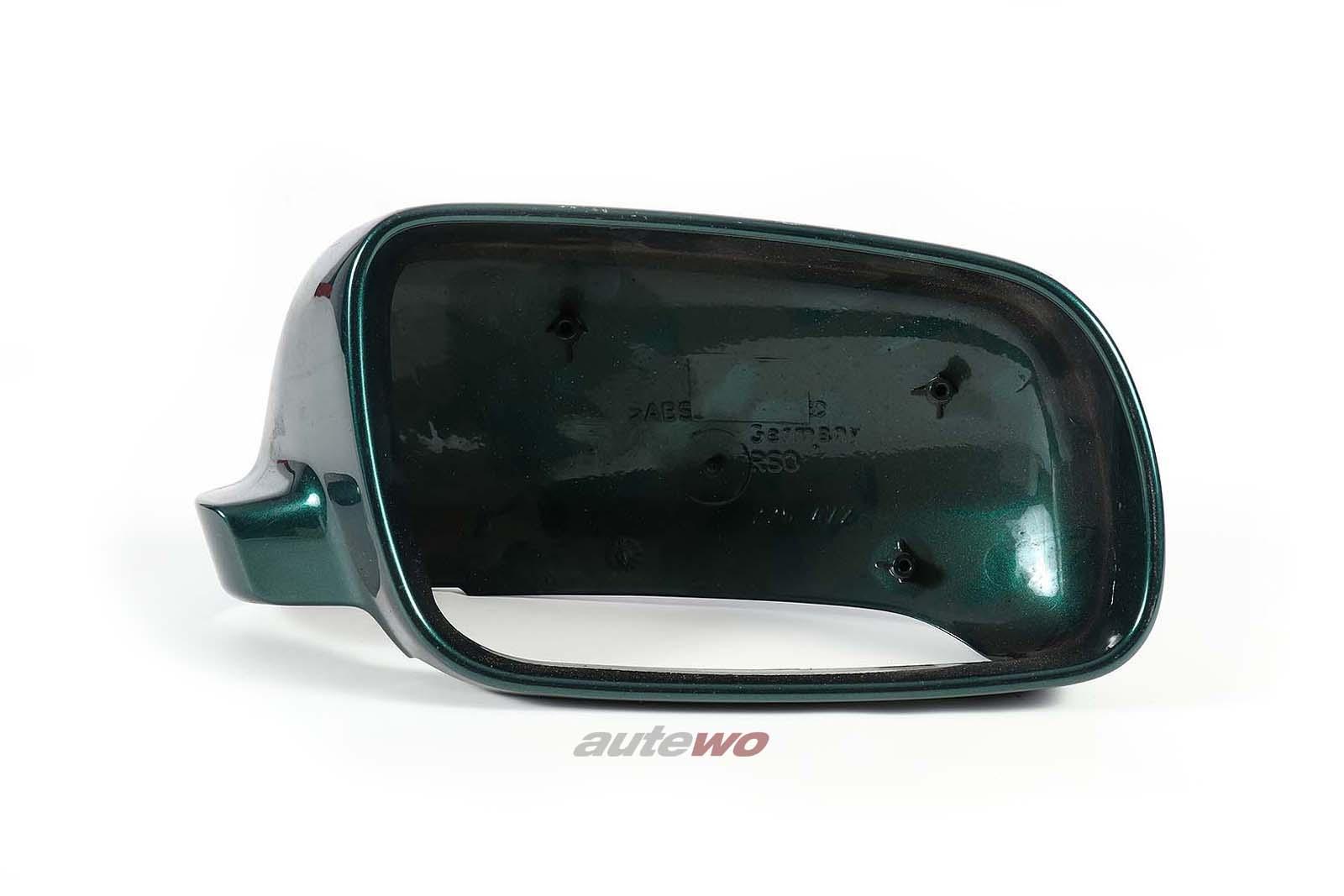 4A0857508 Audi A3/A4/A6/A8 Abdeckkappe großer Außenspiegel Rechts grün