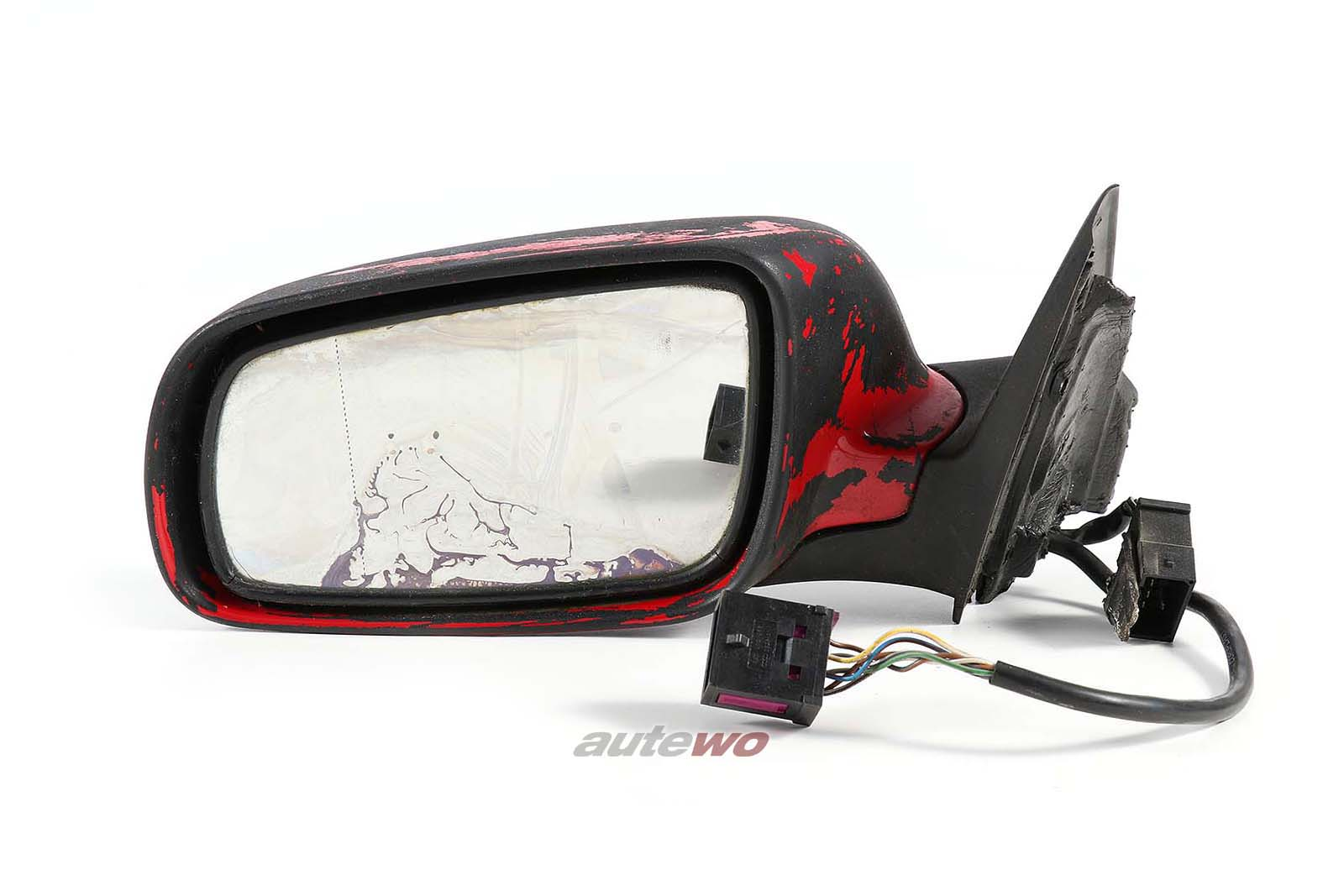 4B1858531J Audi A6/S6 4B elektr. Außenspiegel + Memory Links rot