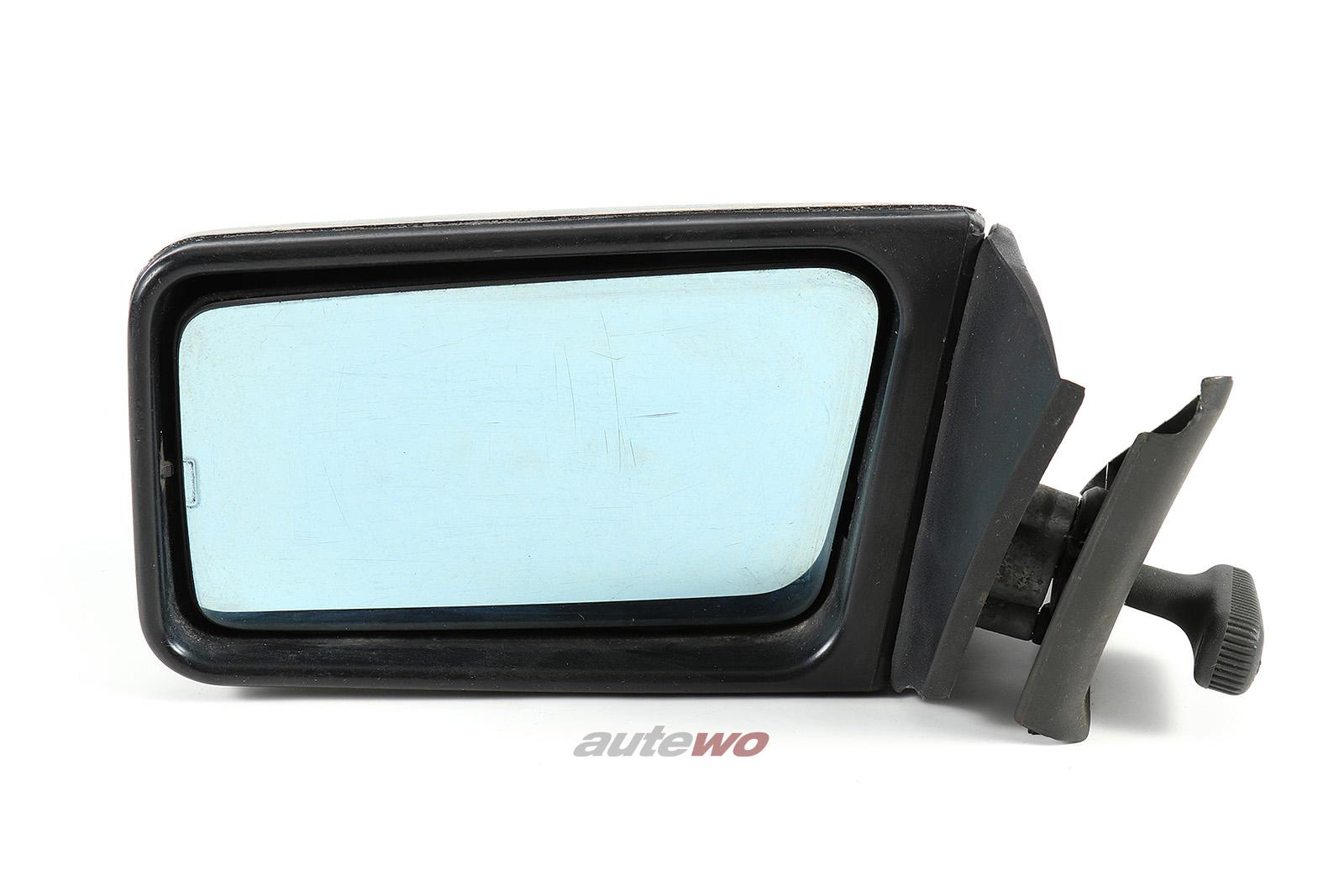 855857501G Audi Coupe Typ 81/85/Urquattro Außenspiegel manuell Links silber