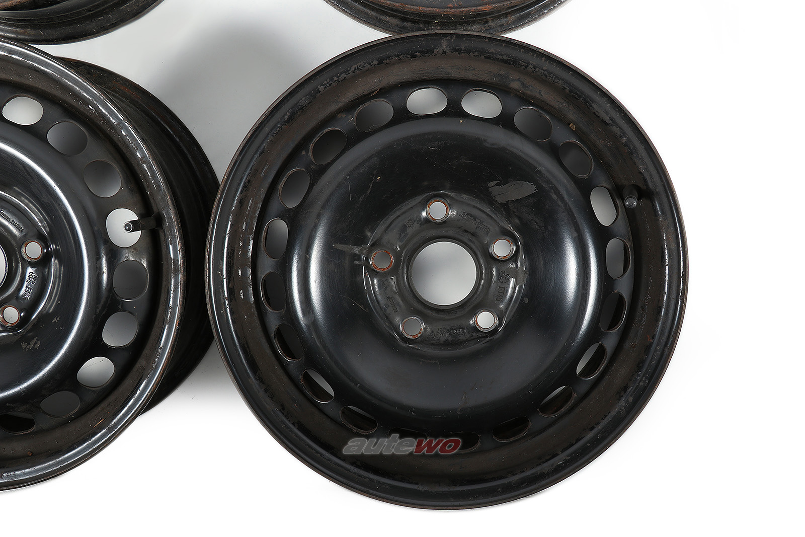 8D0601027 Audi/VW A4 B5/100/A6 C4/4B/Passat 3B Stahlfelgensatz 6Jx15 ET45 5x112