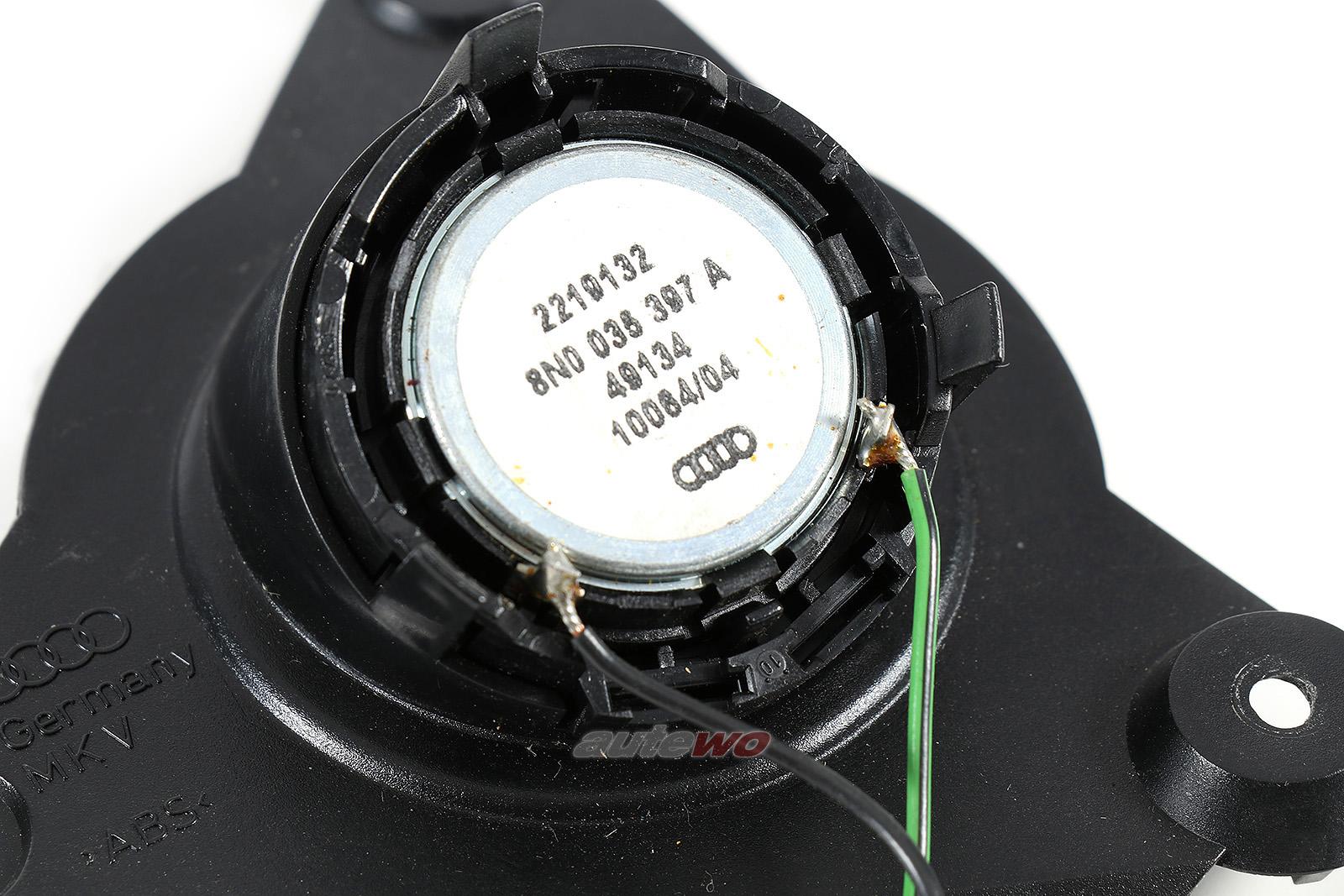 8N0035397A Audi TT 8N Hochton-Lautsprecher BOSE Soundystem Vorne