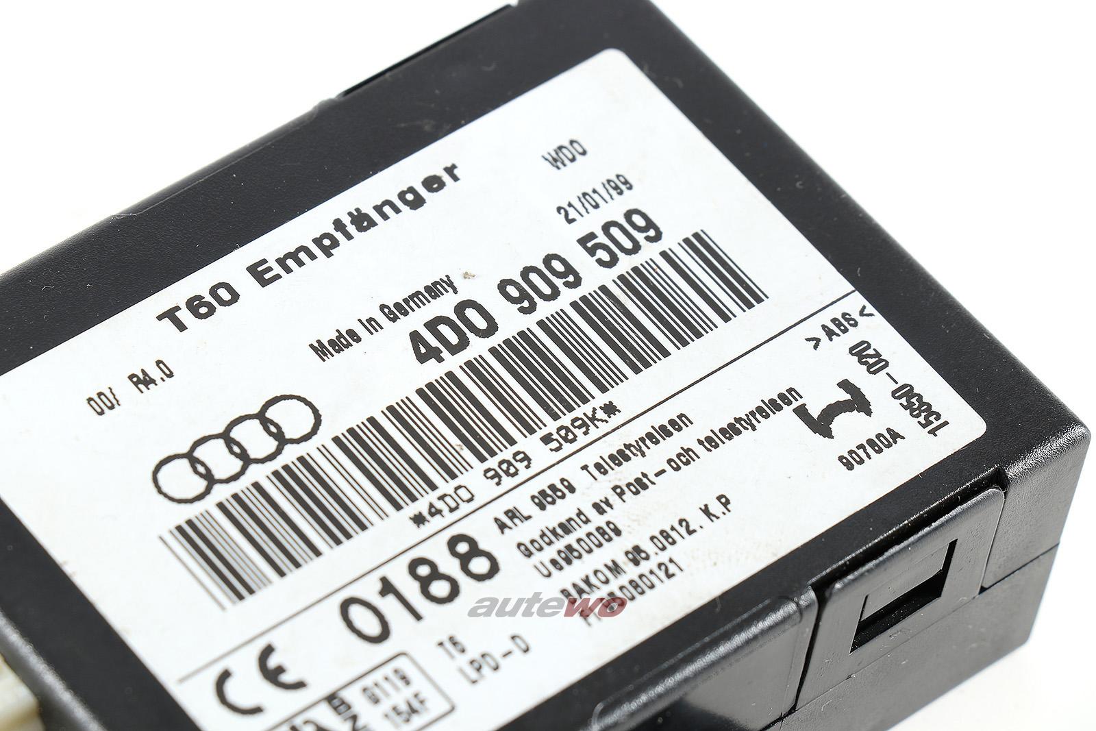 4D0909509 Audi A6/Allroad 4B/A8/S8 D2 Steuergerät für Standheizung