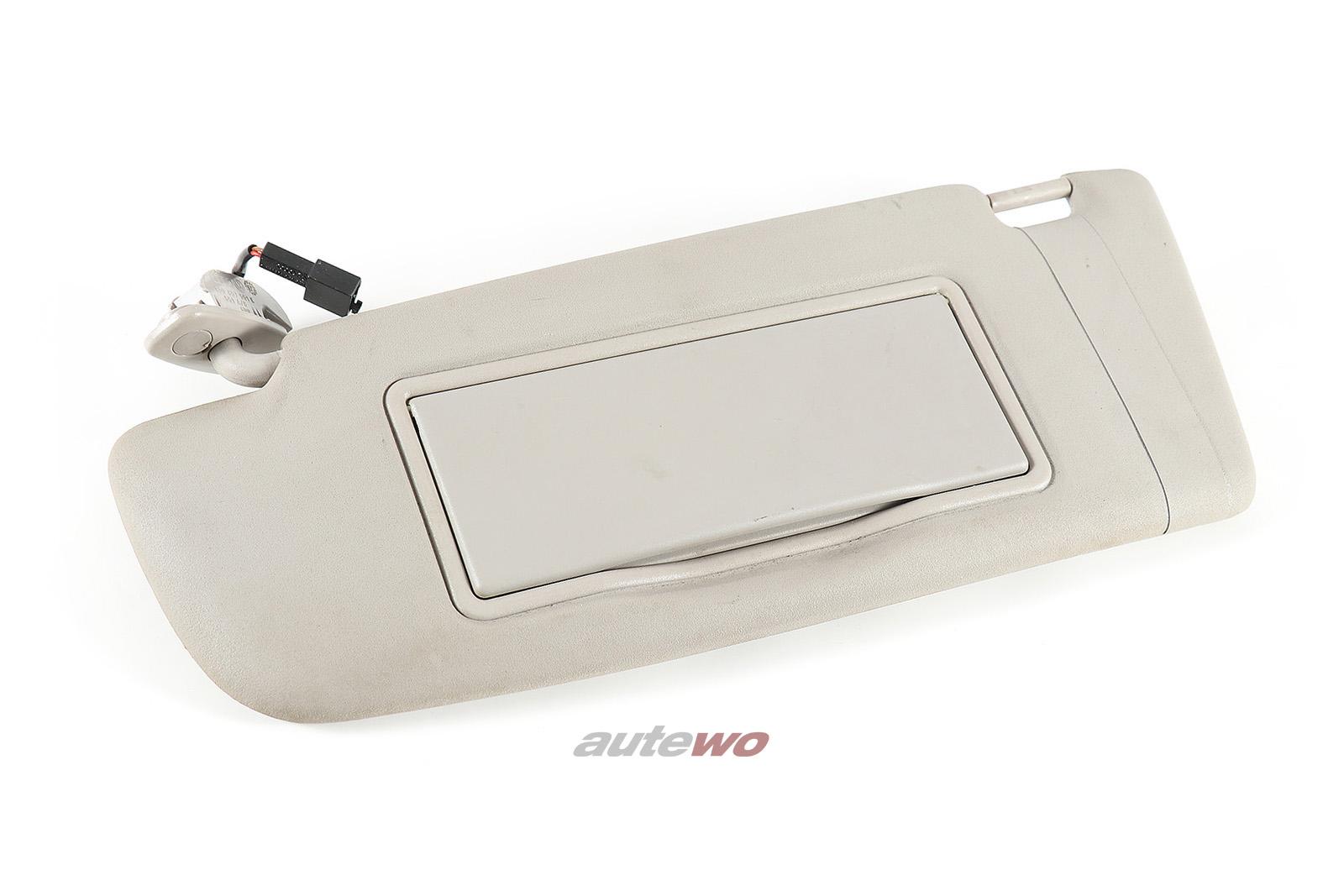 8D0857551E 8D0857551B Audi A4 B5 Sonnenblende + beleuchteter Spiegel links