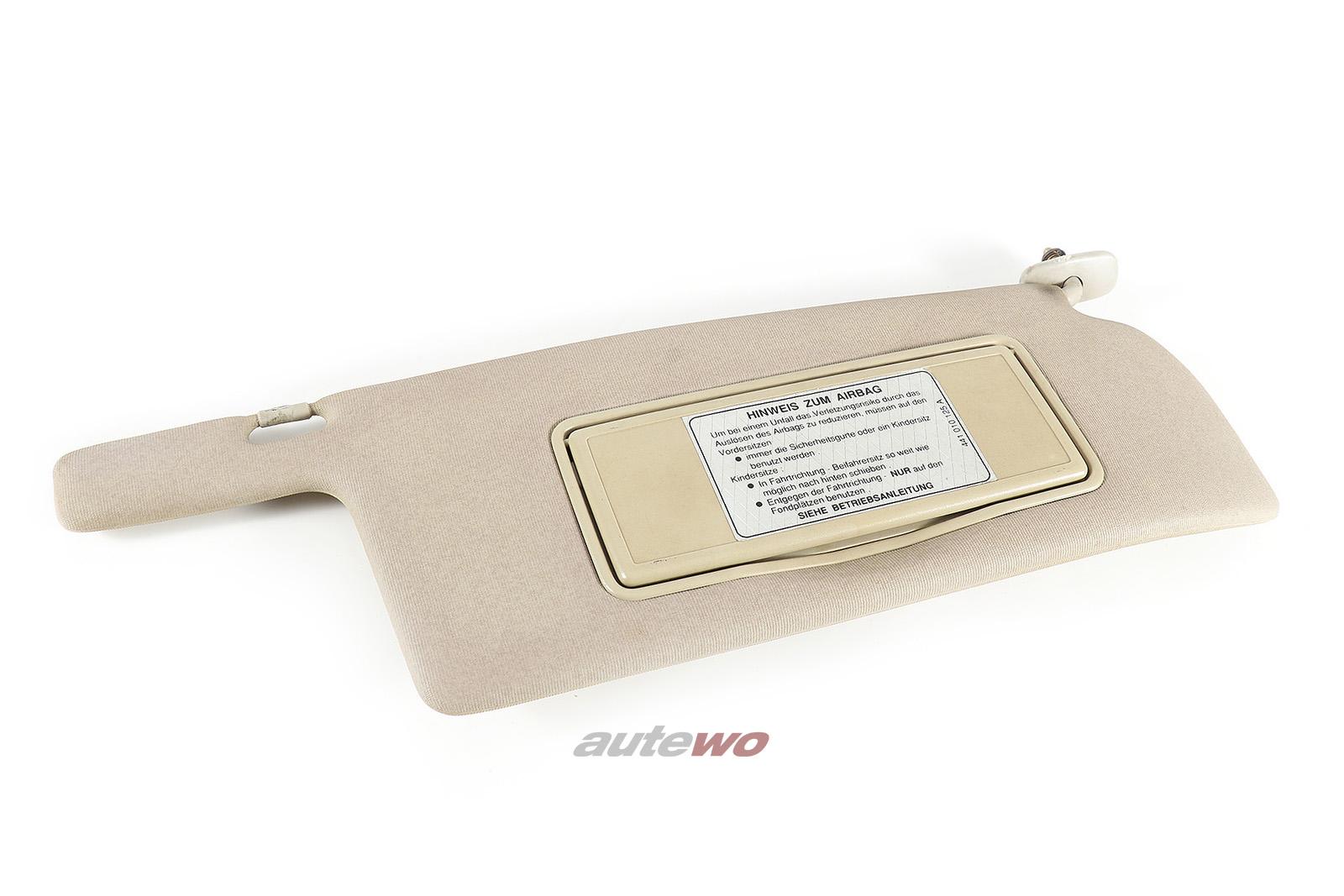 443857552C Audi 100/200 Typ 44 Sonnenblende + beleuchteter Spiegel Rechts