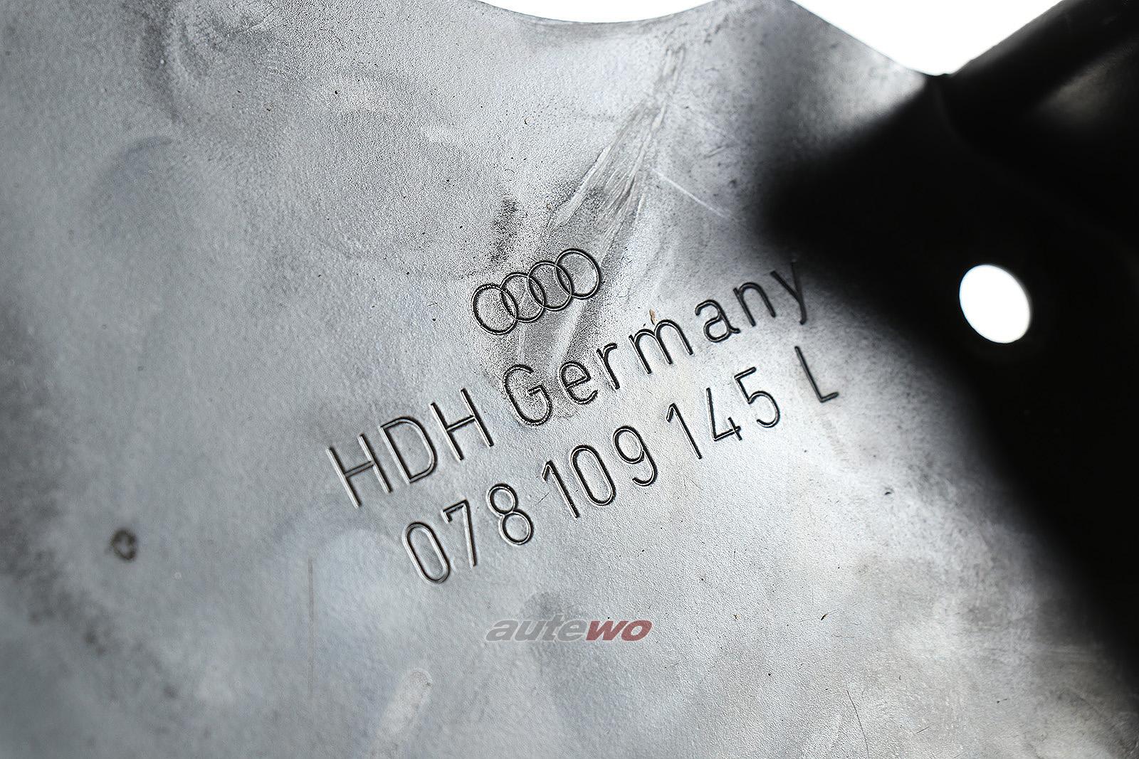 078109145L Audi A4 B5/A6 C4/A8 D2 2.8l Zahnriemenschutz Hinten Rechts