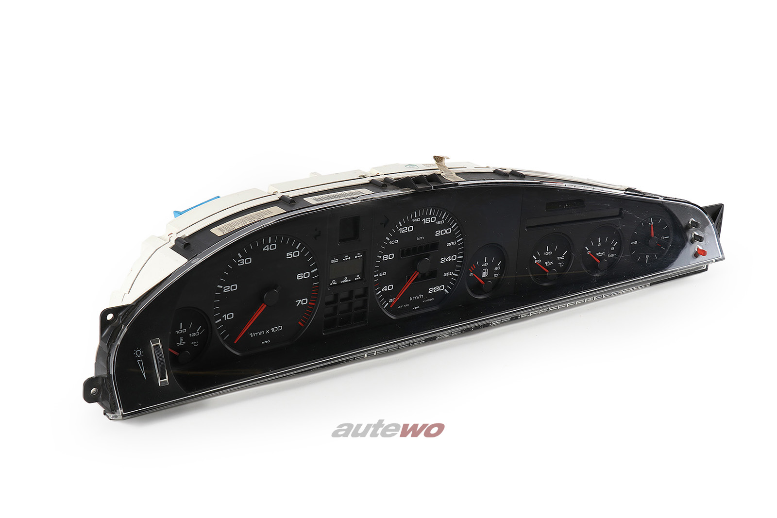 441919033BC 441919880JX Audi V8 D11 VDO Kombiinstrument 280km/h