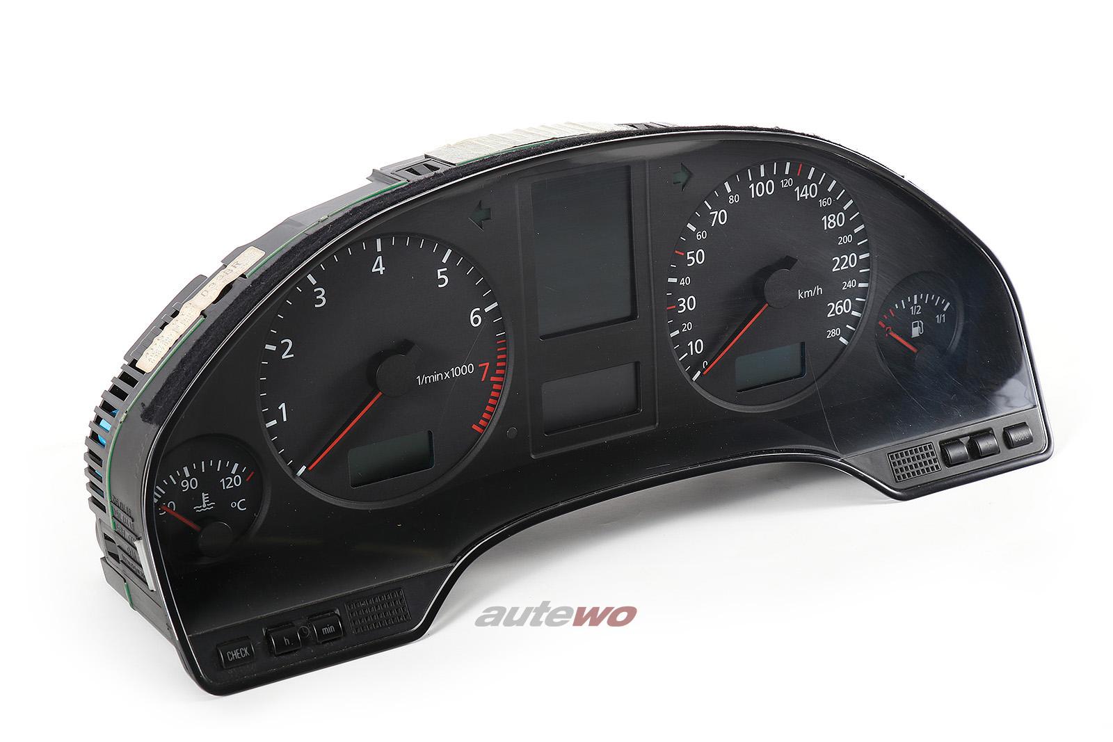 4D0919033BR 4D0919882HX Audi A8 D2 Kombiinstrument 280km/h FIS defekt