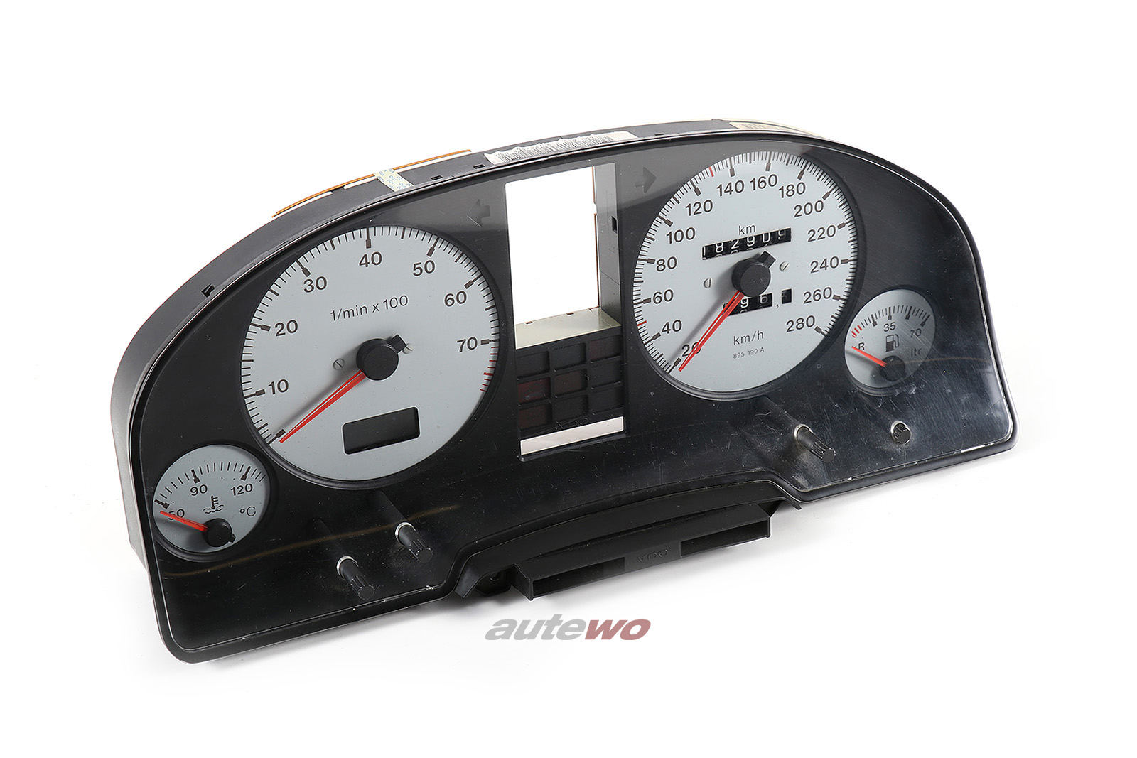 895919033AL Audi S2 B4/Coupe Typ 89 2.2l VDO Kombiinstrument mit 280km/h Tacho