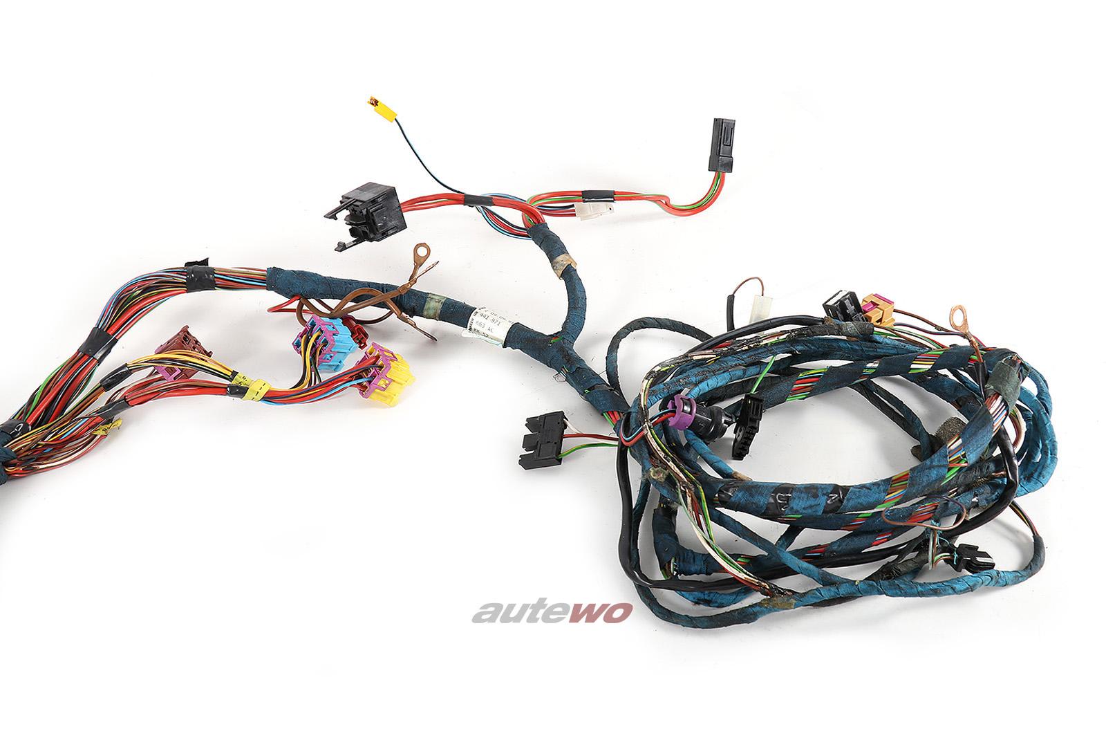 443971663AC 447971663K Audi 100/200 Typ 44 Kabelbaum 4-fach Fensterheber