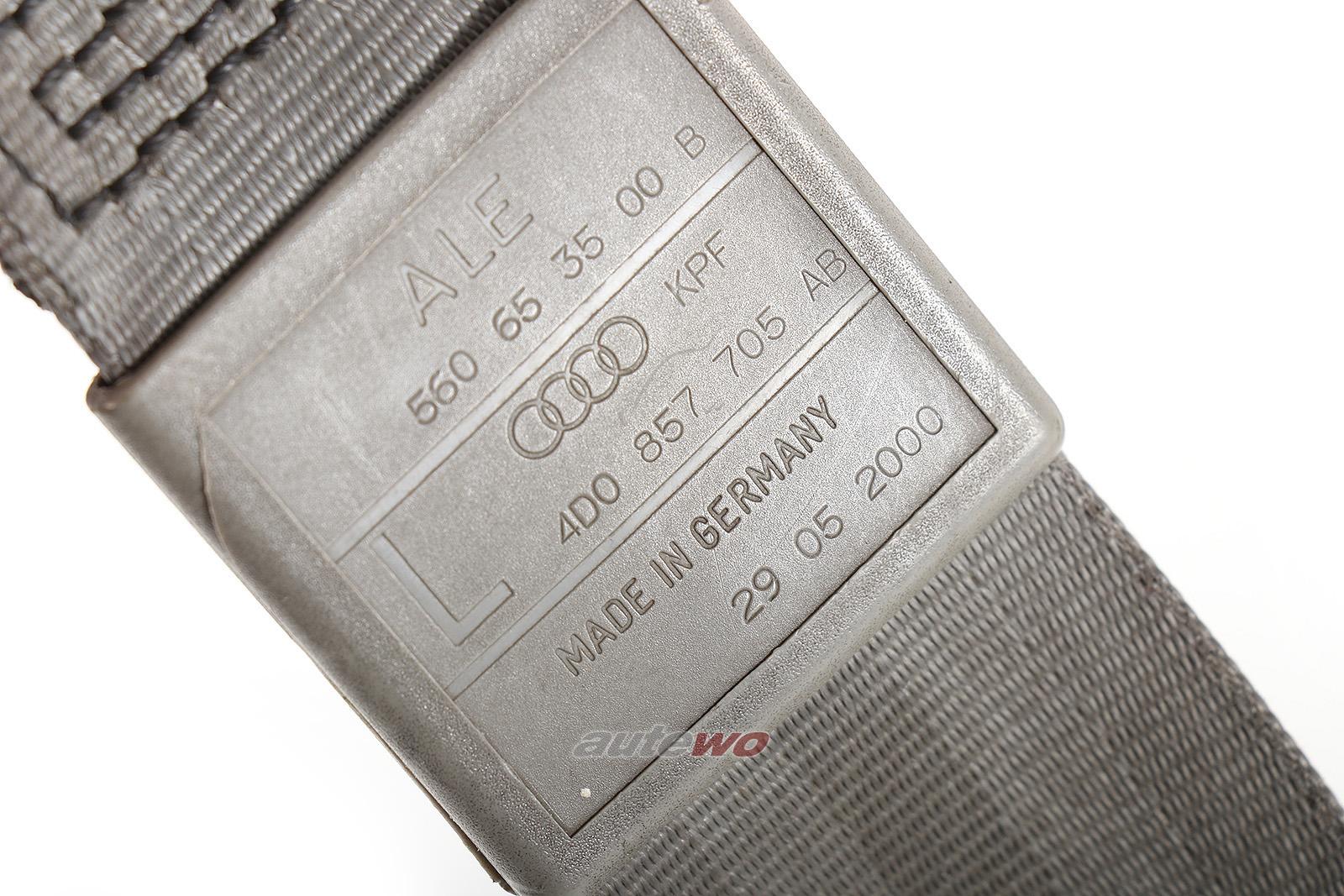 4D0857705AB Audi A8/S8 D2 Sicherheitsgurt Vorne Links KPF platin