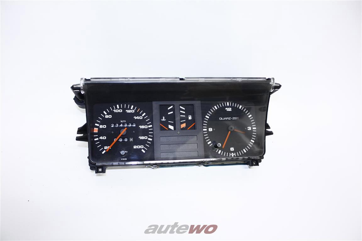 Audi 80/90 Typ 81/85 Tacho/Kombiinstrument + Analoguhr & Wassertemperaturanzeige