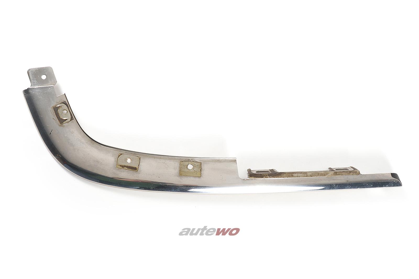 441853065E Audi V8 D11 Zierleiste Stoßstange Vorne Links verchromt