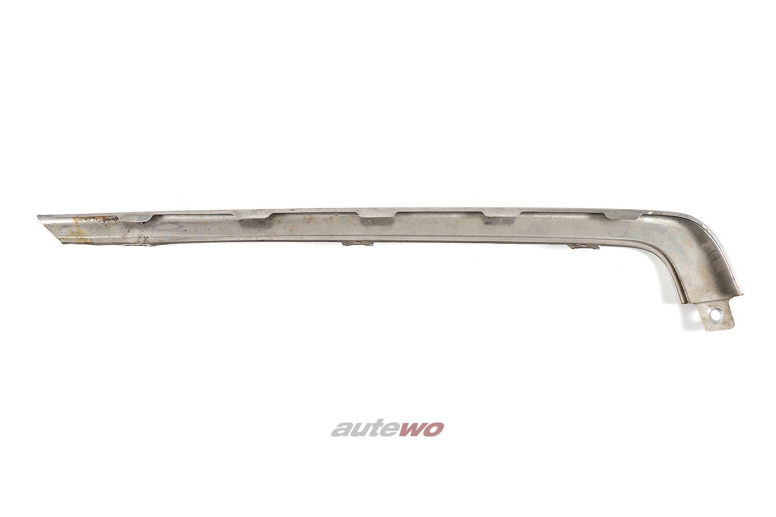 441853073 Audi V8 D11 Zierleiste Stoßstange Hinten Links verchromt