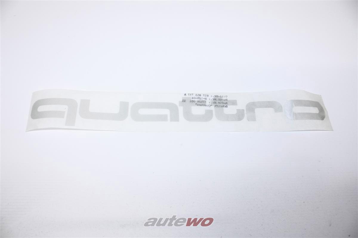 Audi Coupe Typ 85/Urquattro Schriftzug Quattro Dreiecksfenster hinten 857853737A