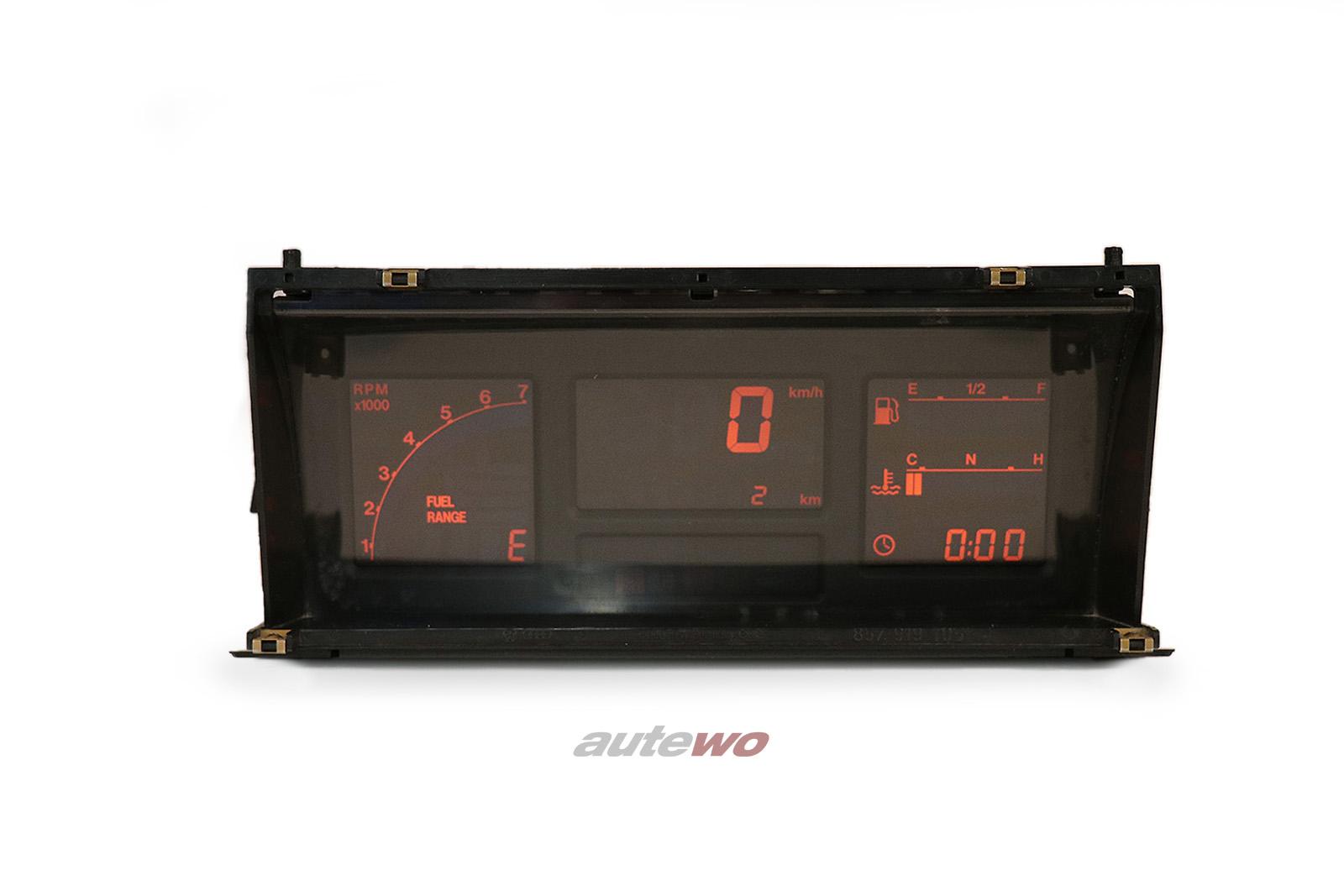 857919036N 0263220015 Audi Urquattro rotes Digitalinstrument/Kombiinstrument