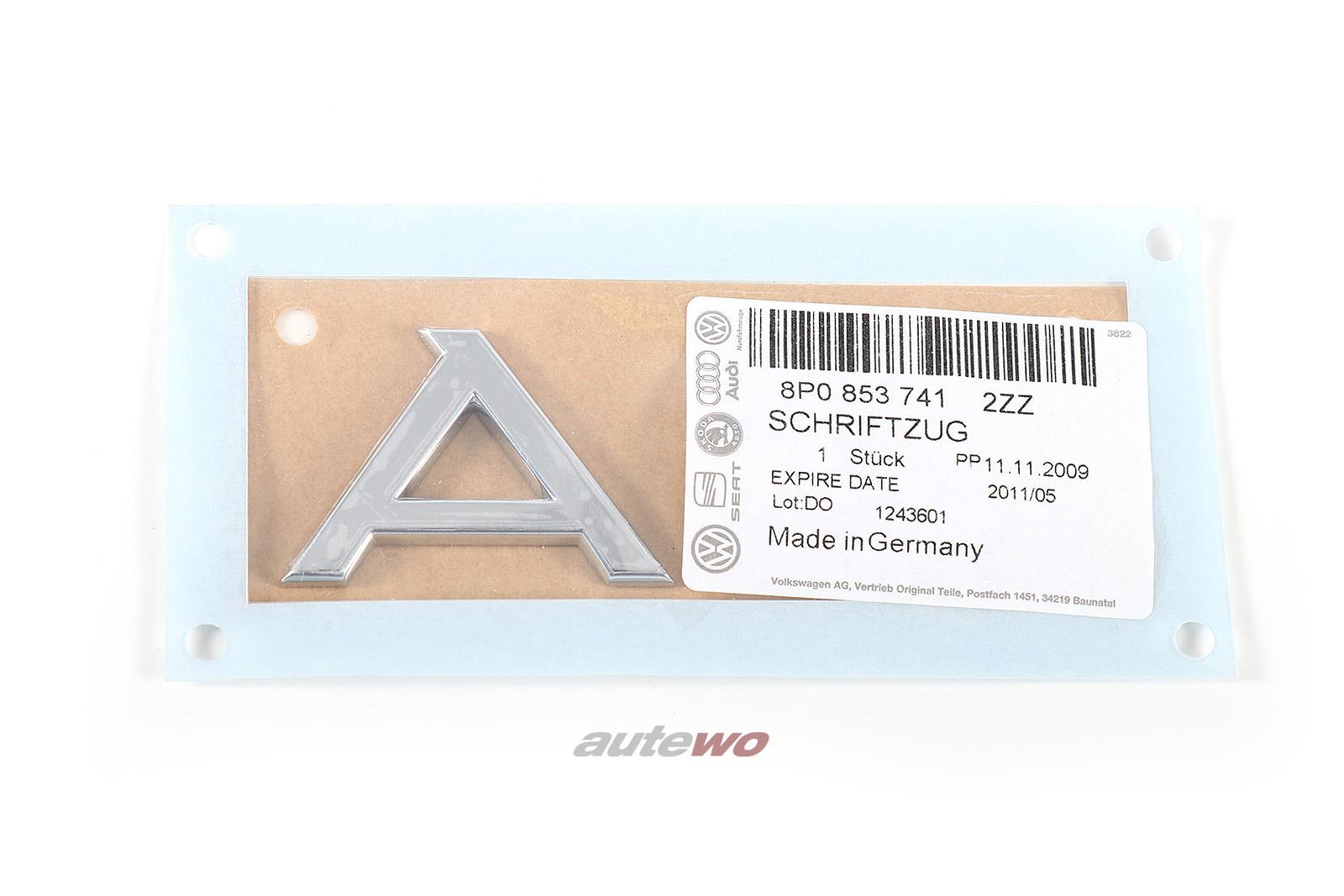 8P0853741 NEU Audi A3 8P Schriftzug A3 Hinten 2ZZ chrom