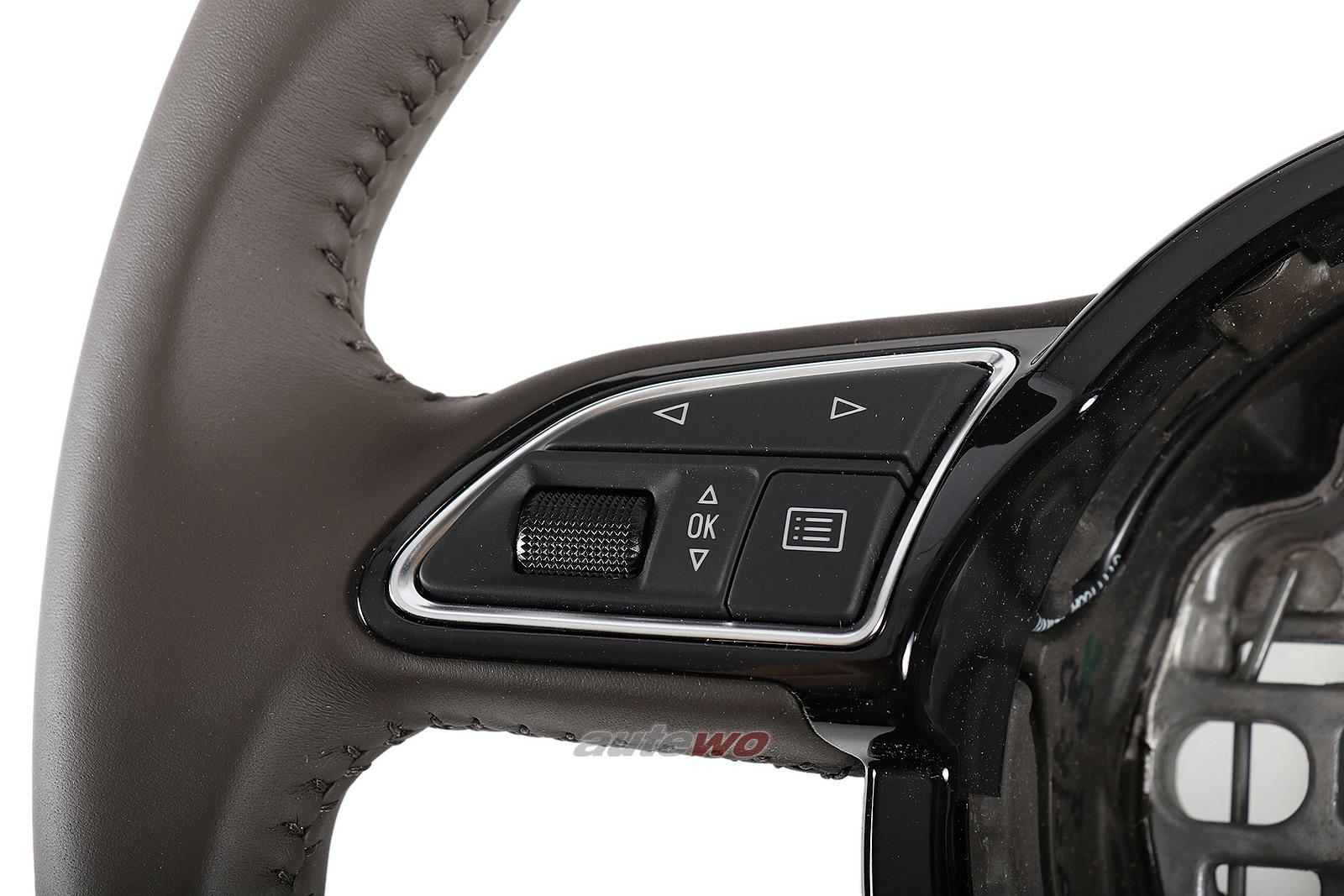 4H0419091G NEU Audi A8 D4 Sport-Leder-Lenkrad CJP moorbraun