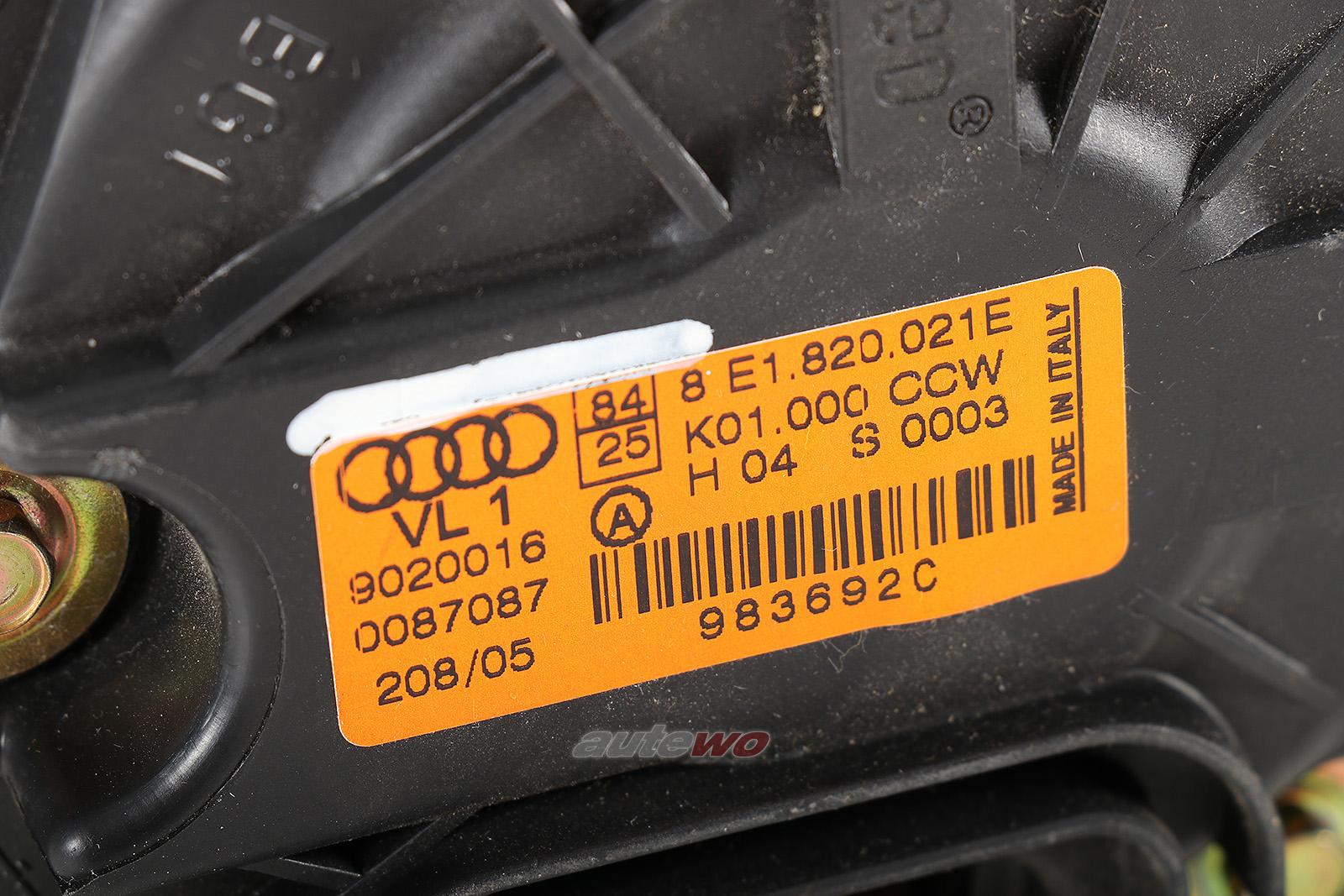 8E1820021E Audi A4/S4/RS4/Cabrio 8E/8H B6/B7 Innenraum Gebläse Heizung/Klima