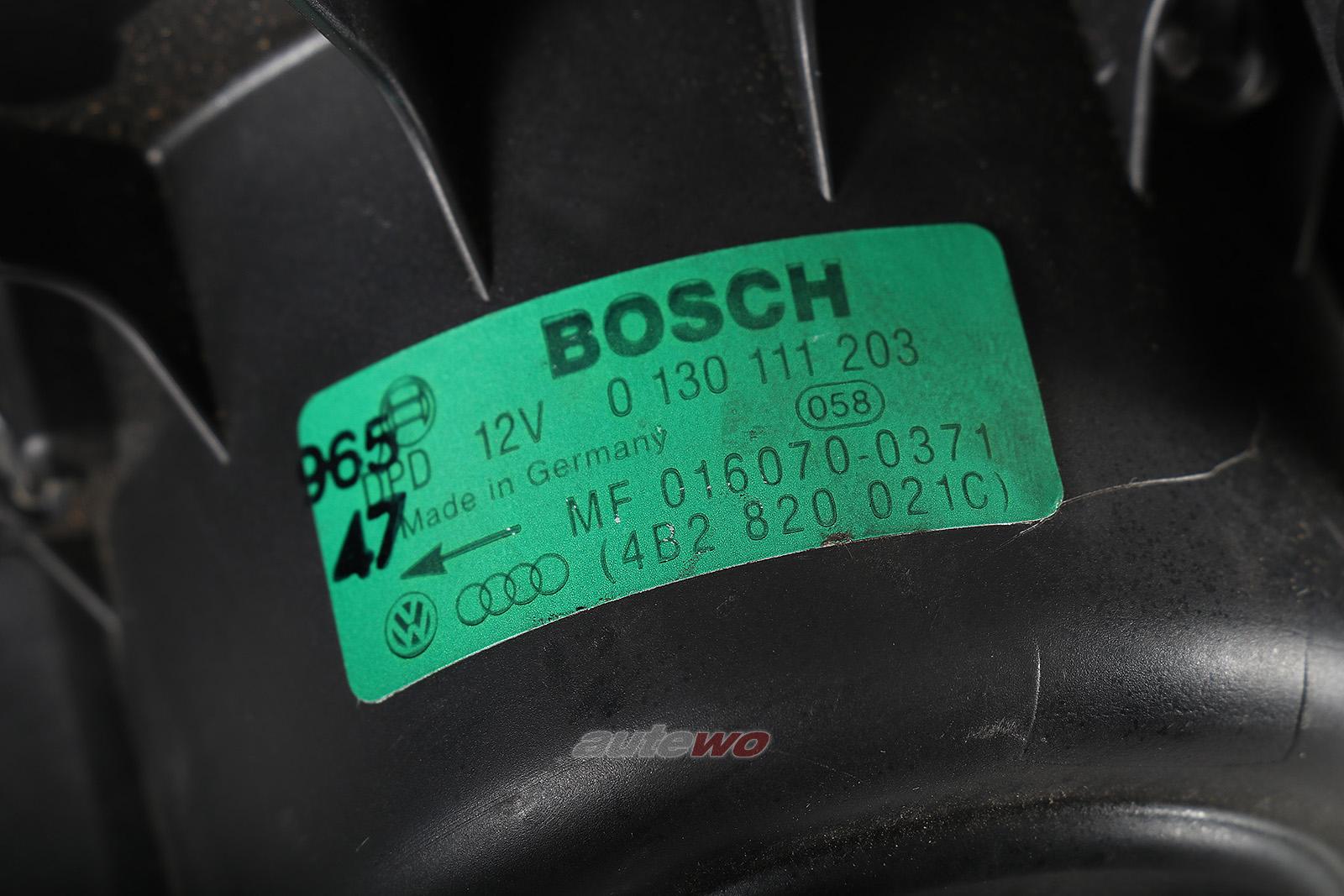 4B2820021C 0130111203 Audi A6/S6/RS6/Allroad 4B Innenraum Gebläse RHD