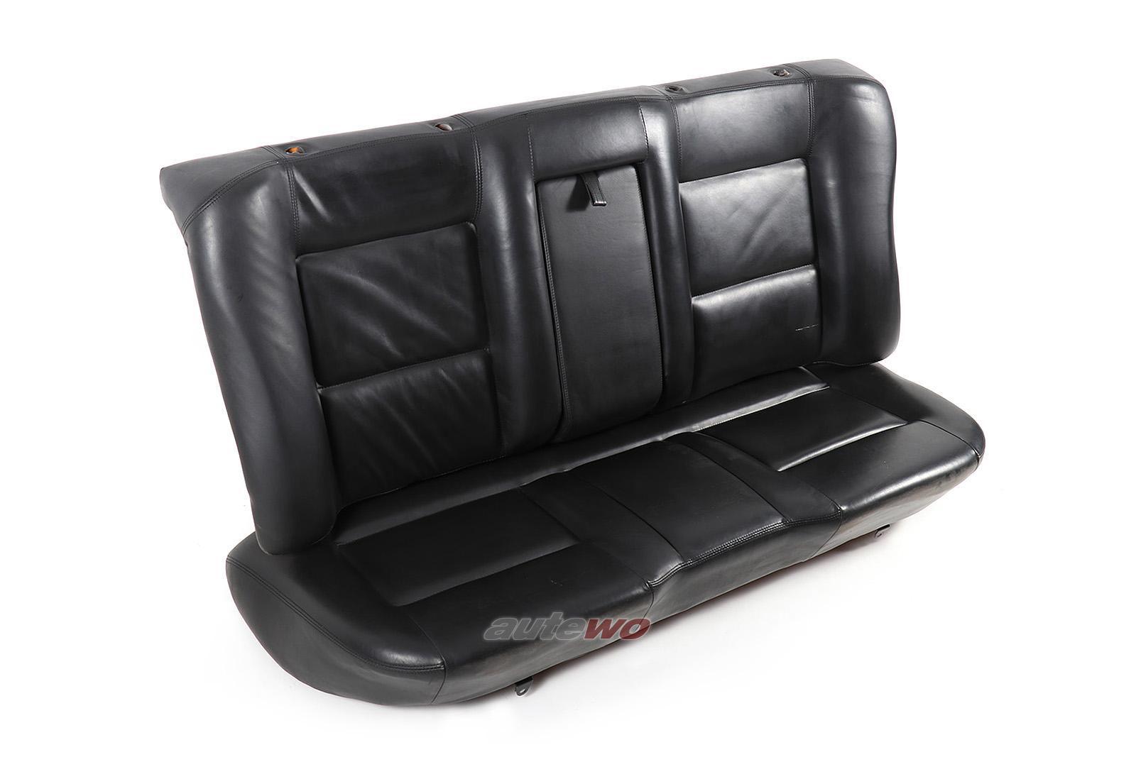 Audi 100/200 Typ 44/V8 D11 Rücksitzbank Lehne & Sitzfläche Leder schwarz